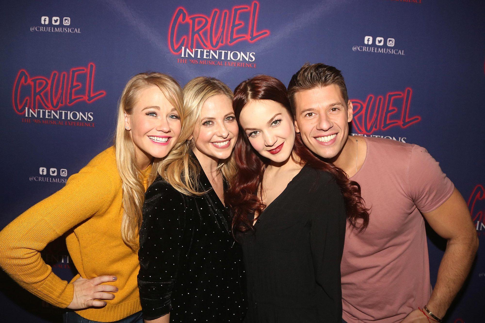 Celebrities Visit Broadway - December 16, 2017