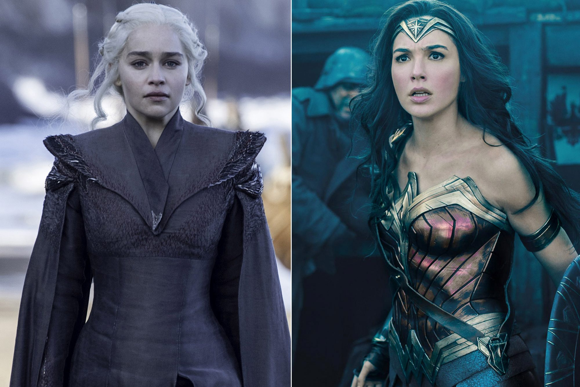 Game of Thrones Emilia Clarke / Wonder Woman Gal Gadot