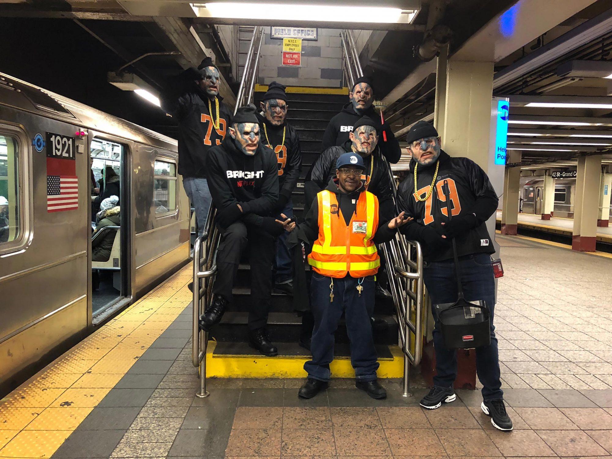 Bright Orcs walking around New York City on 12/15/17 CR: TBA