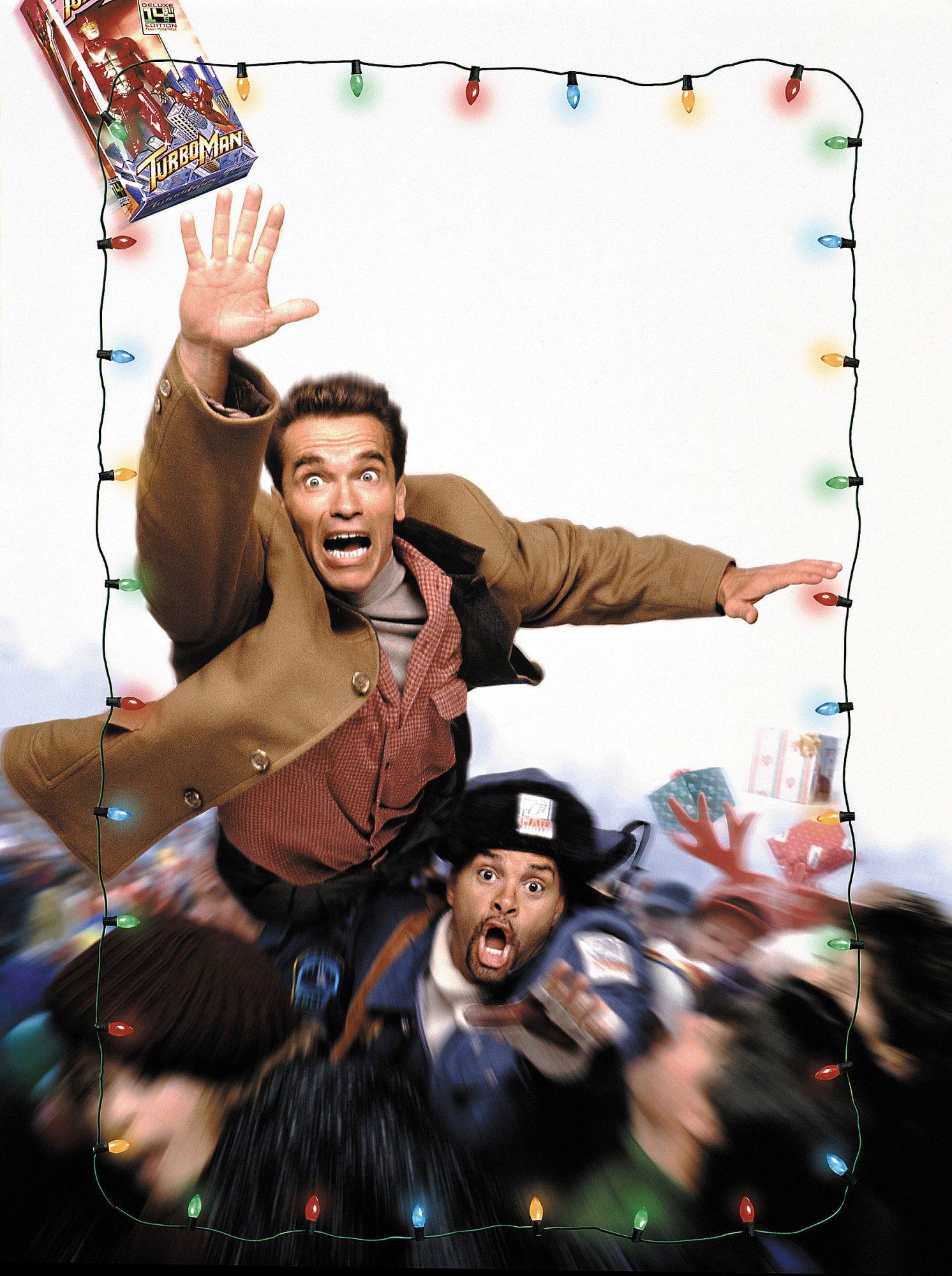 JINGLE ALL THE WAY, Arnold Schwarzenegger, Sinbad, 1996. TM and Copyright © 20th Century Fox Film Co