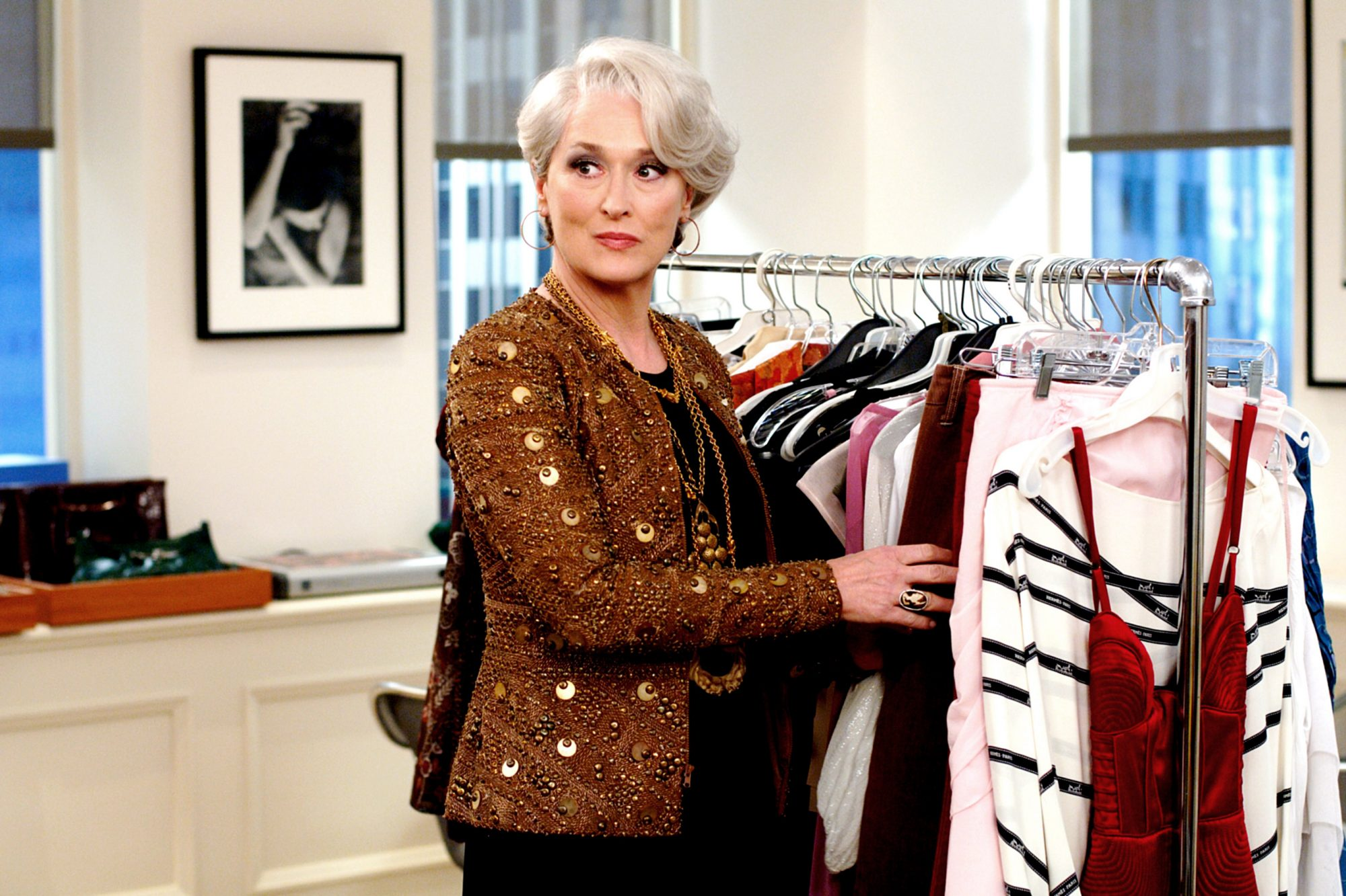 THE DEVIL WEARS PRADA, Meryl Streep (wearing a Bill Blass jacket), 2006, TM & Copyright (c) 20th Cen
