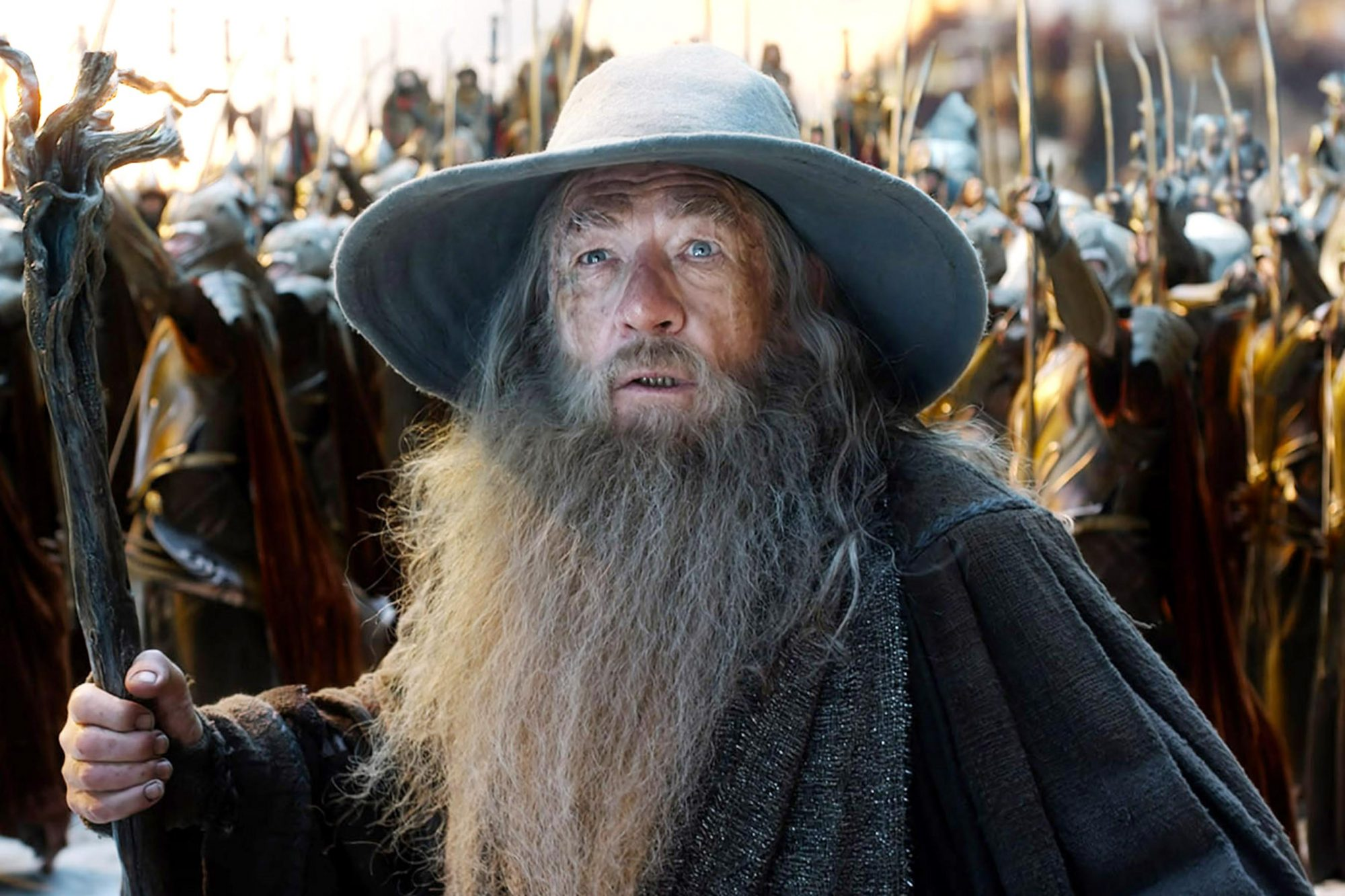 THE HOBBIT: BATTLE OF THE FIVE ARMIES, Ian McKellen, 2014. ©Warner Bros. Pictures/courtesy Everett