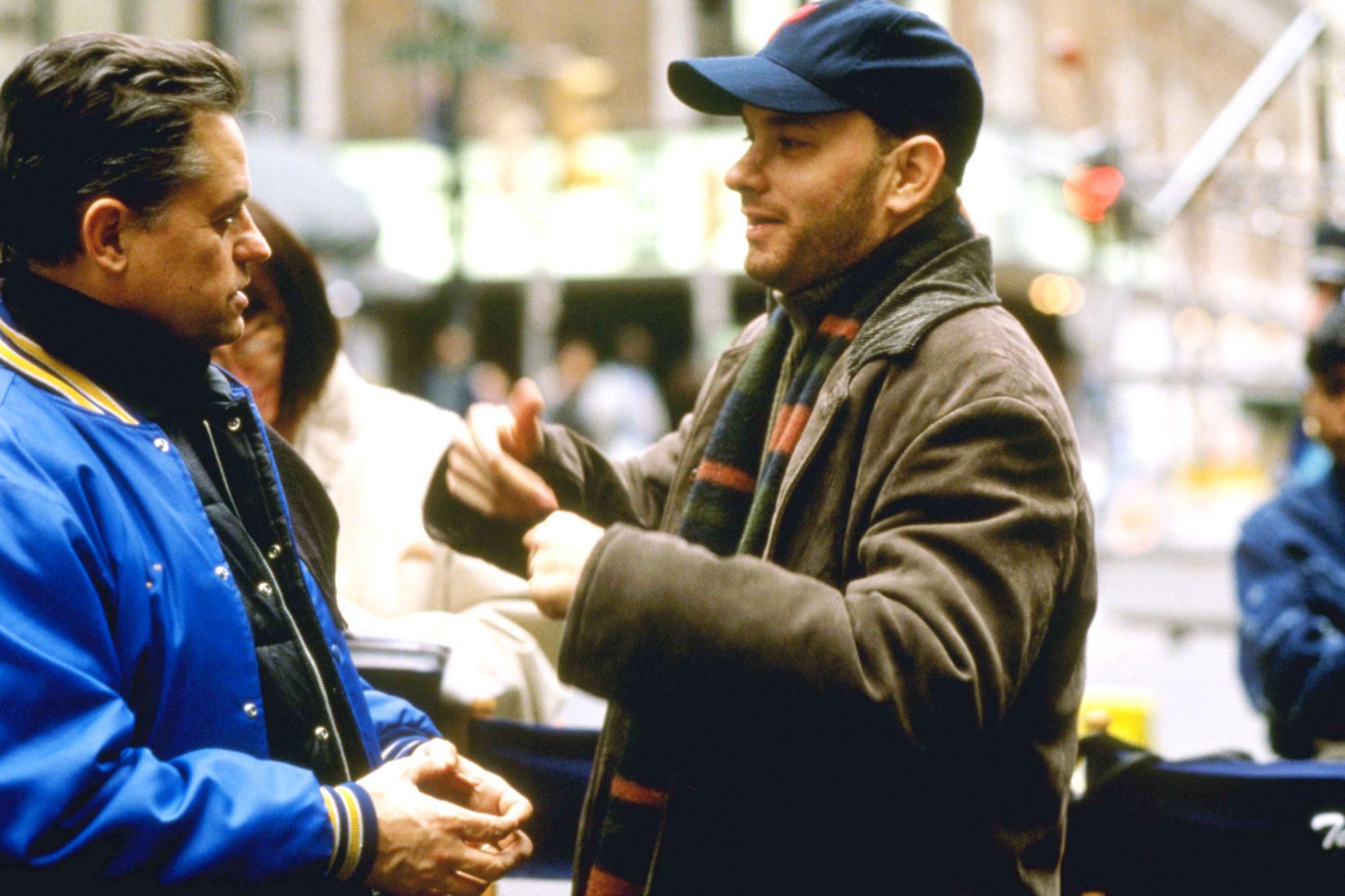 PHILADELPHIA, director Jonathan Demme, Tom Hanks on-set, 1993. ©TriStar Pictures/Courtesy Everett Co