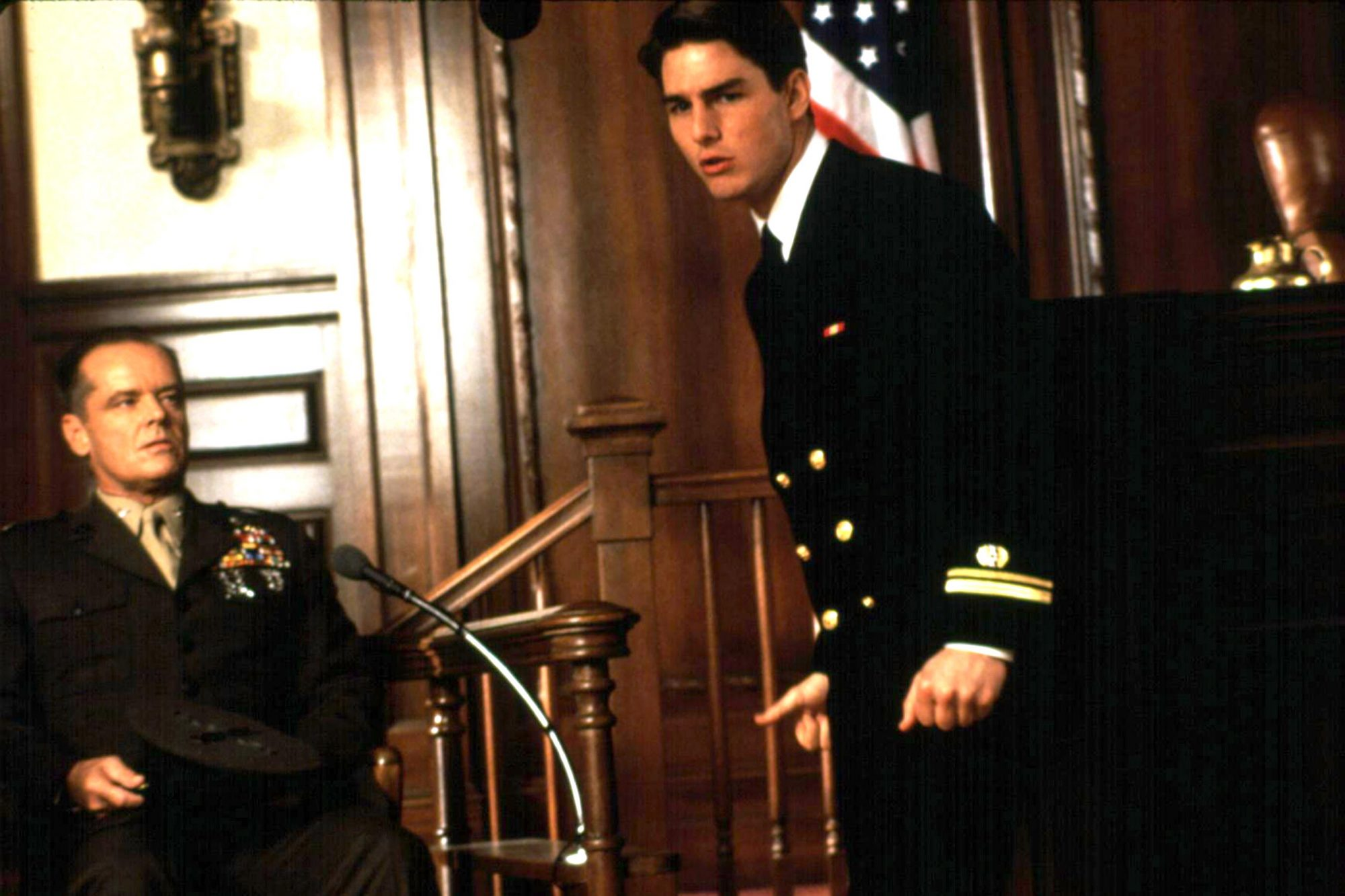 A FEW GOOD MEN, Jack Nicholson, Tom Cruise, 1992, (c) Columbia/courtesy Everett Collection