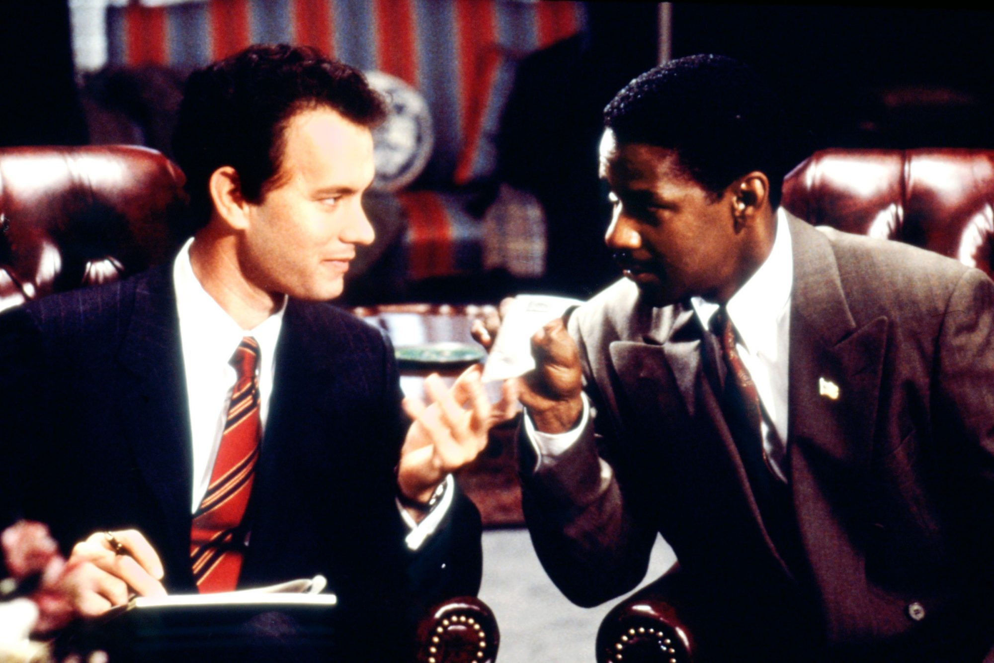 PHILADELPHIA, Tom Hanks, Denzel Washington, 1993. ©TriStar Pictures/Courtesy Everett Collection