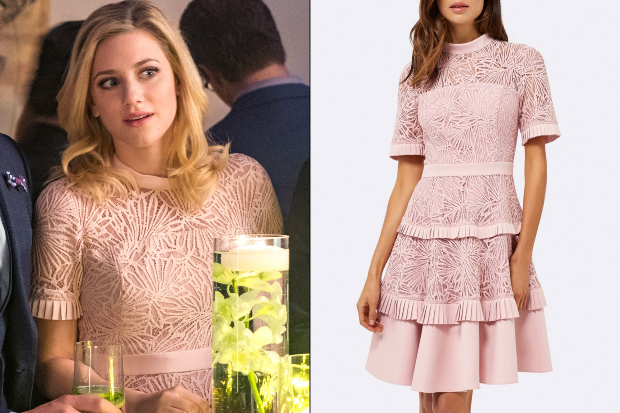 Betty's (Lili Reinhart) pink dress on Riverdale