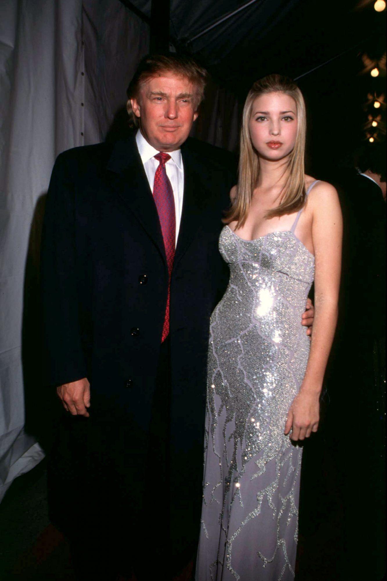 Radio City Music Hall Donald Trump With Daughter Ivanka Trump Backstage At The 4