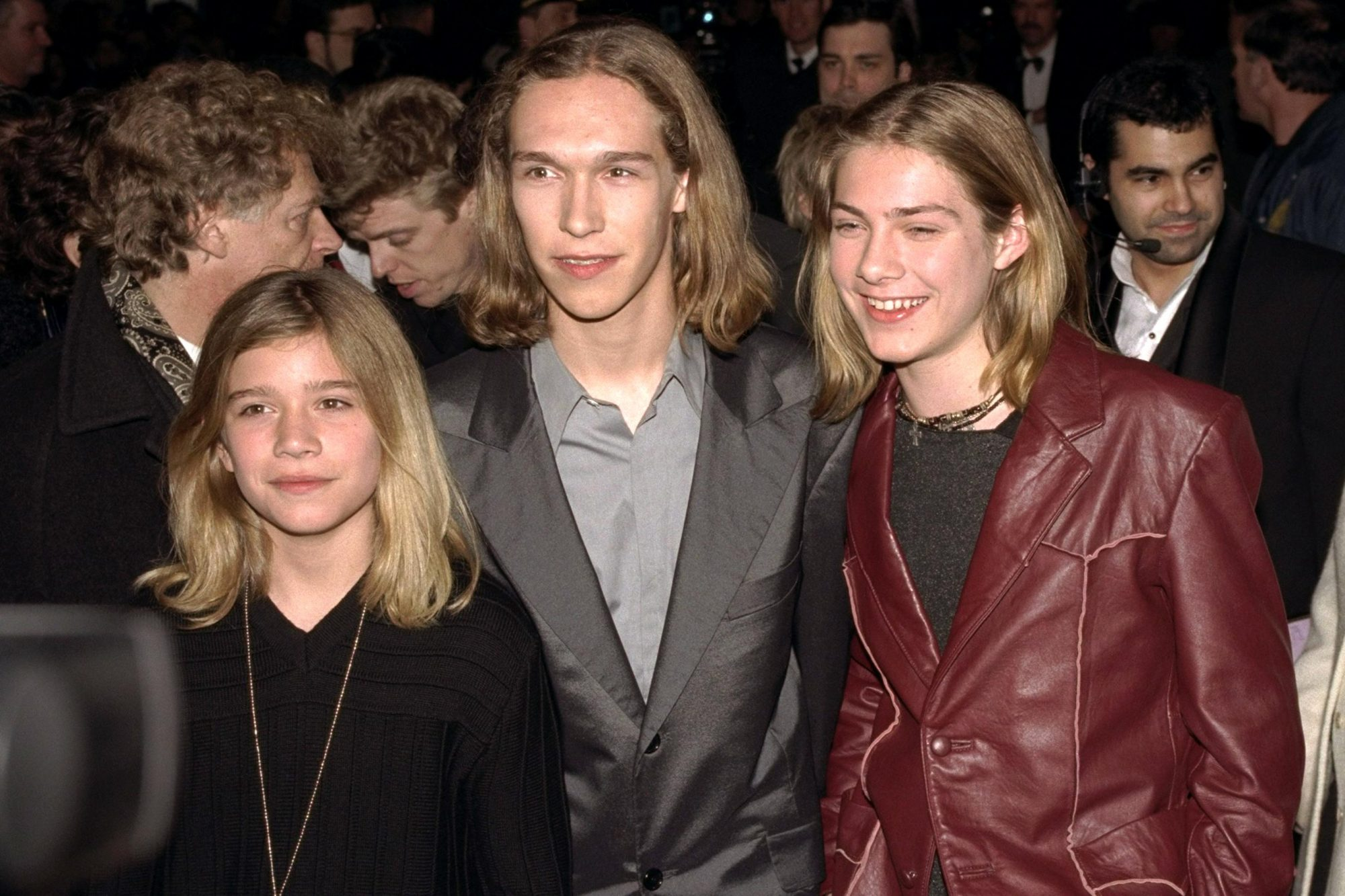 Pop trio Hanson arriving for the Grammy Awards at Radio City