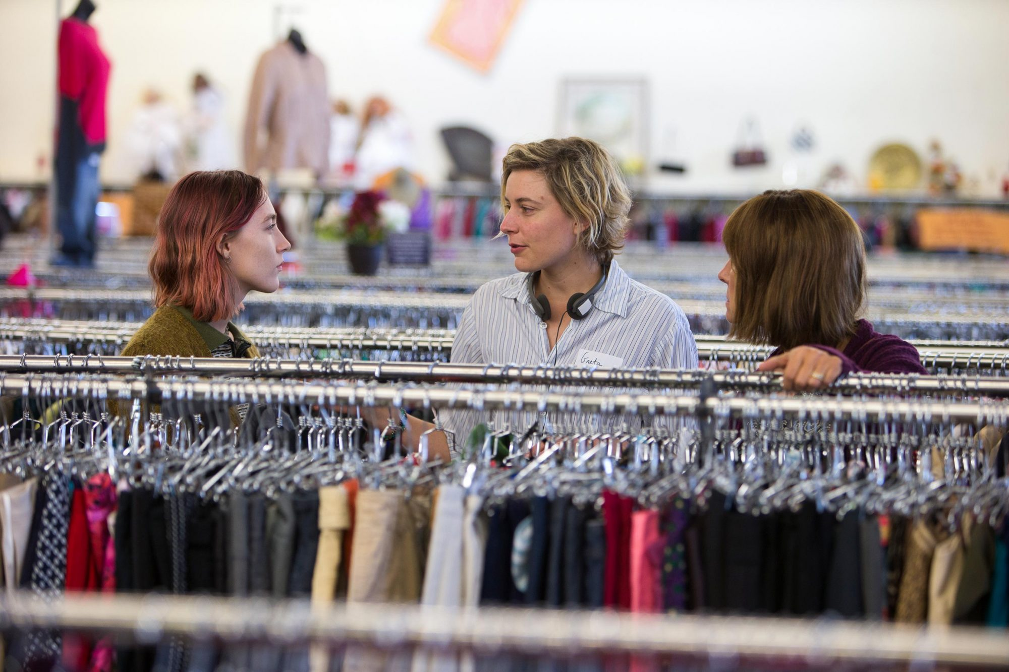 Lady BirdBTSPictured: Saoirse Ronan,  Greta Gerwig, Laurie Metcalf