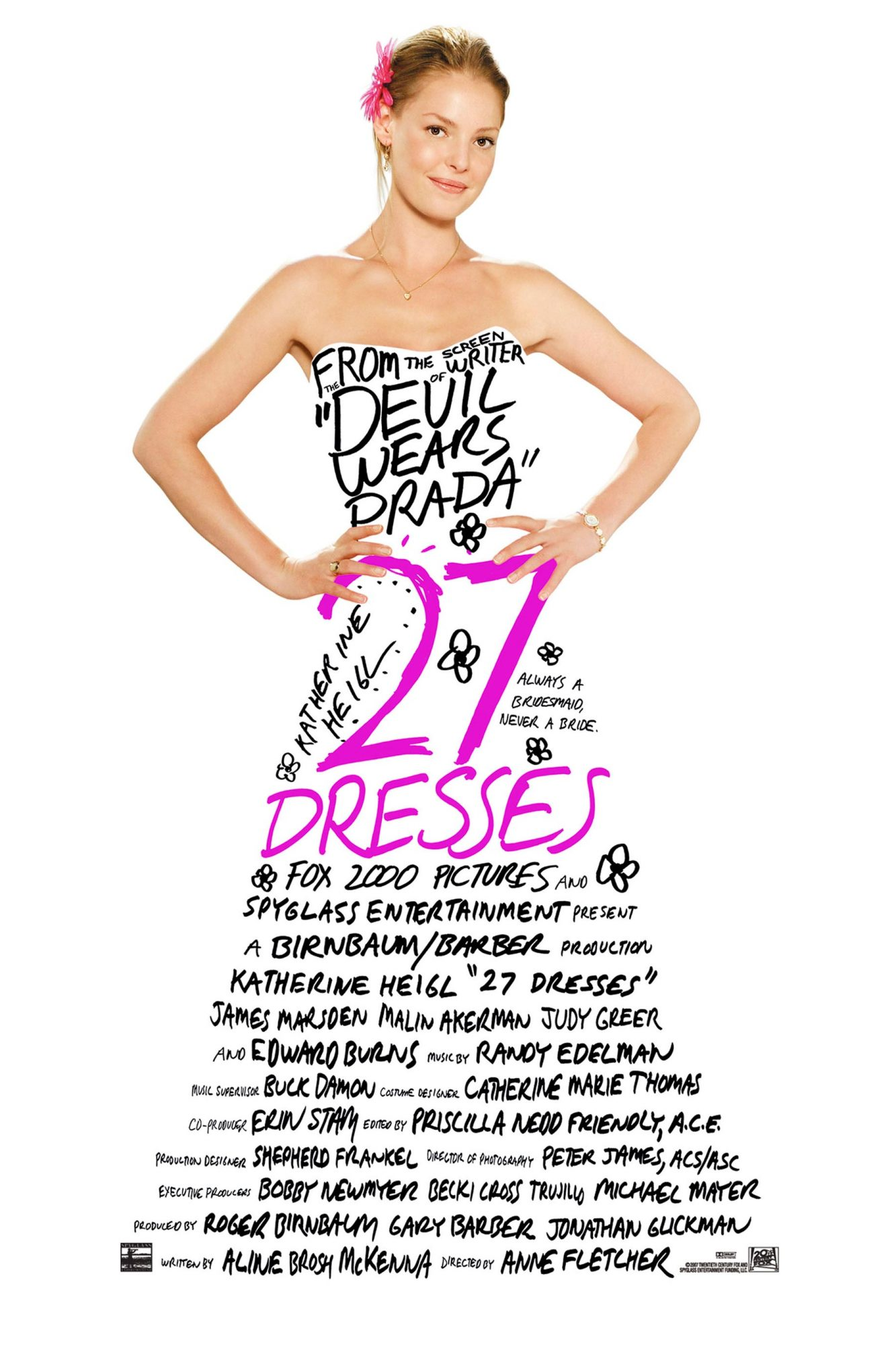 27 DRESSES, Katherine Heigl, 2008. TM &©20th Century Fox. All rights reserved/courtesy Everett Colle