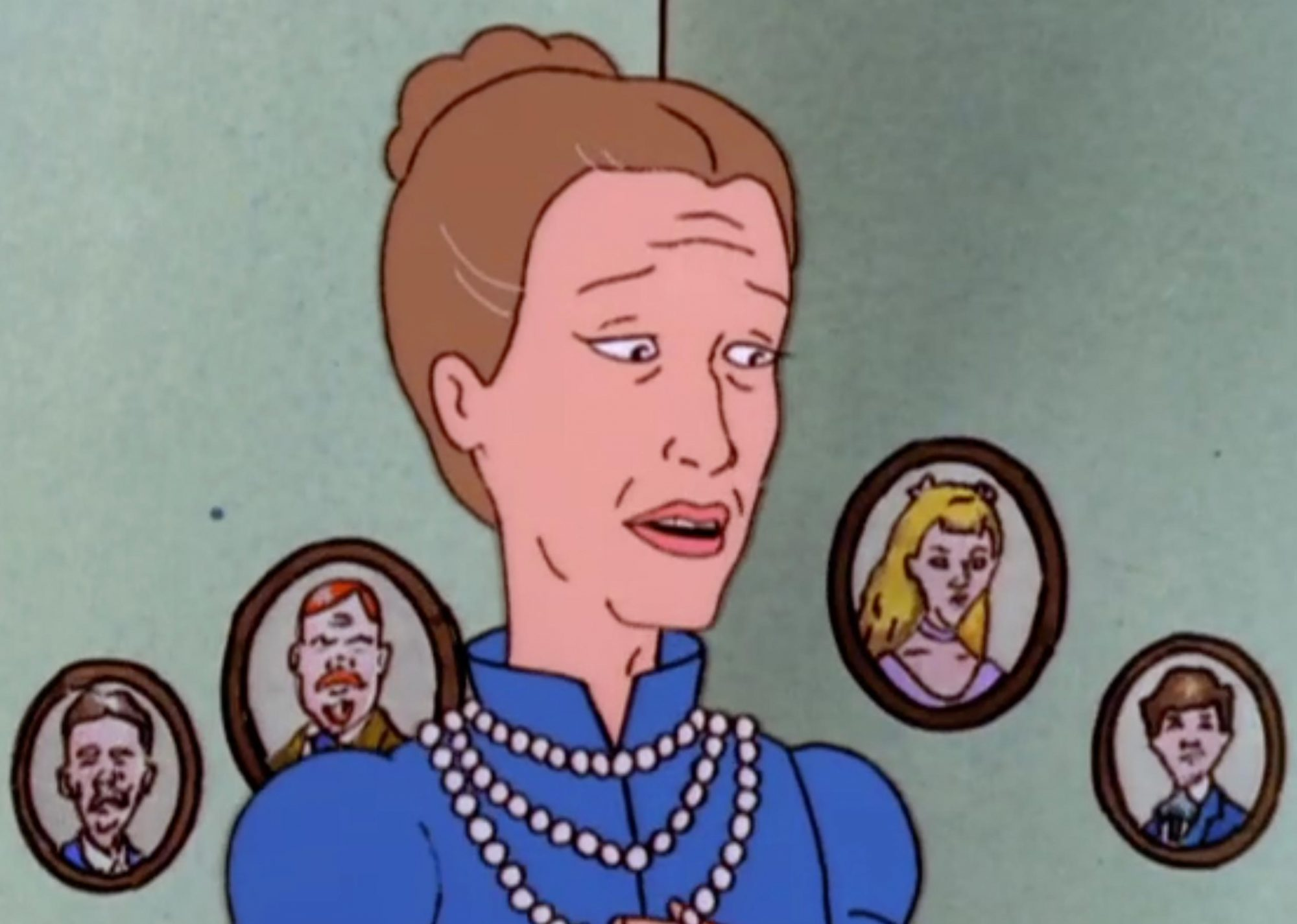 Meryl Streep as Aunt Esme Dauterive on King of the HIll (screen grab) CR: Fox