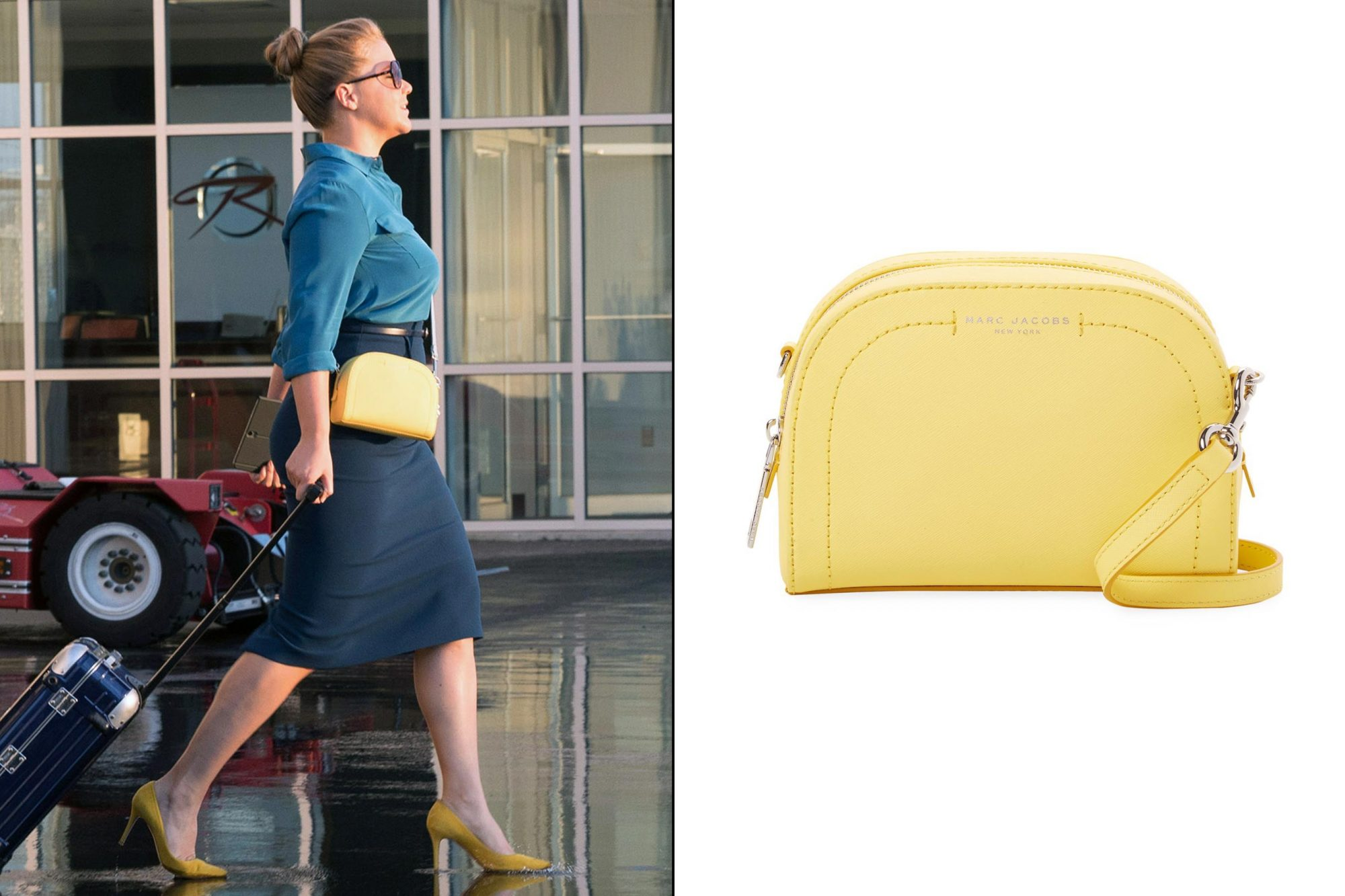 Renee Bennett's (Amy Schumer) yellow accessories in I Feel Pretty