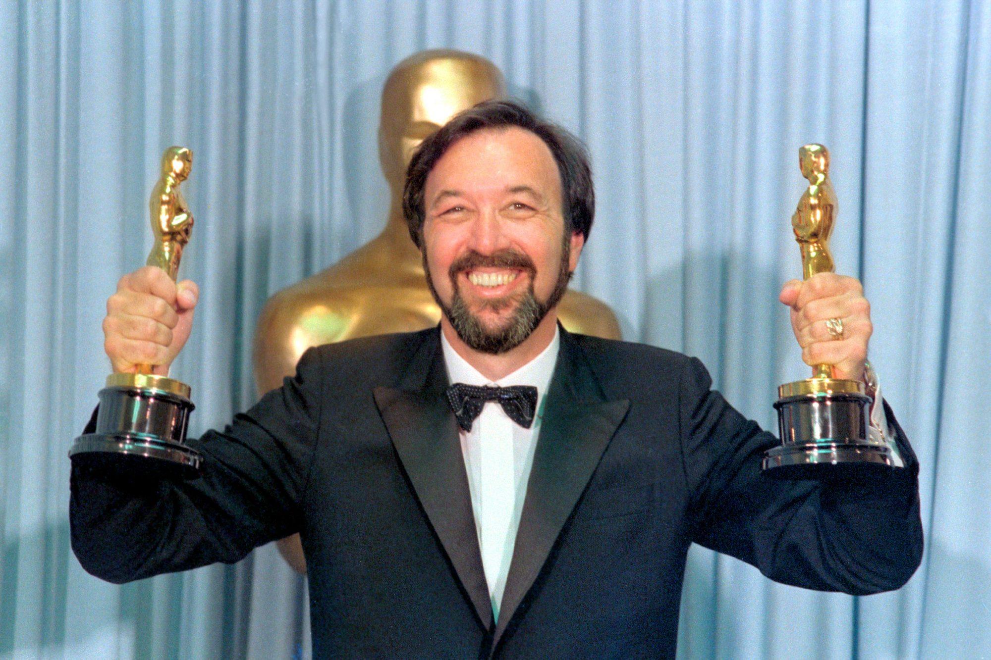 Best Director James Brooks Posing at Academy Awards