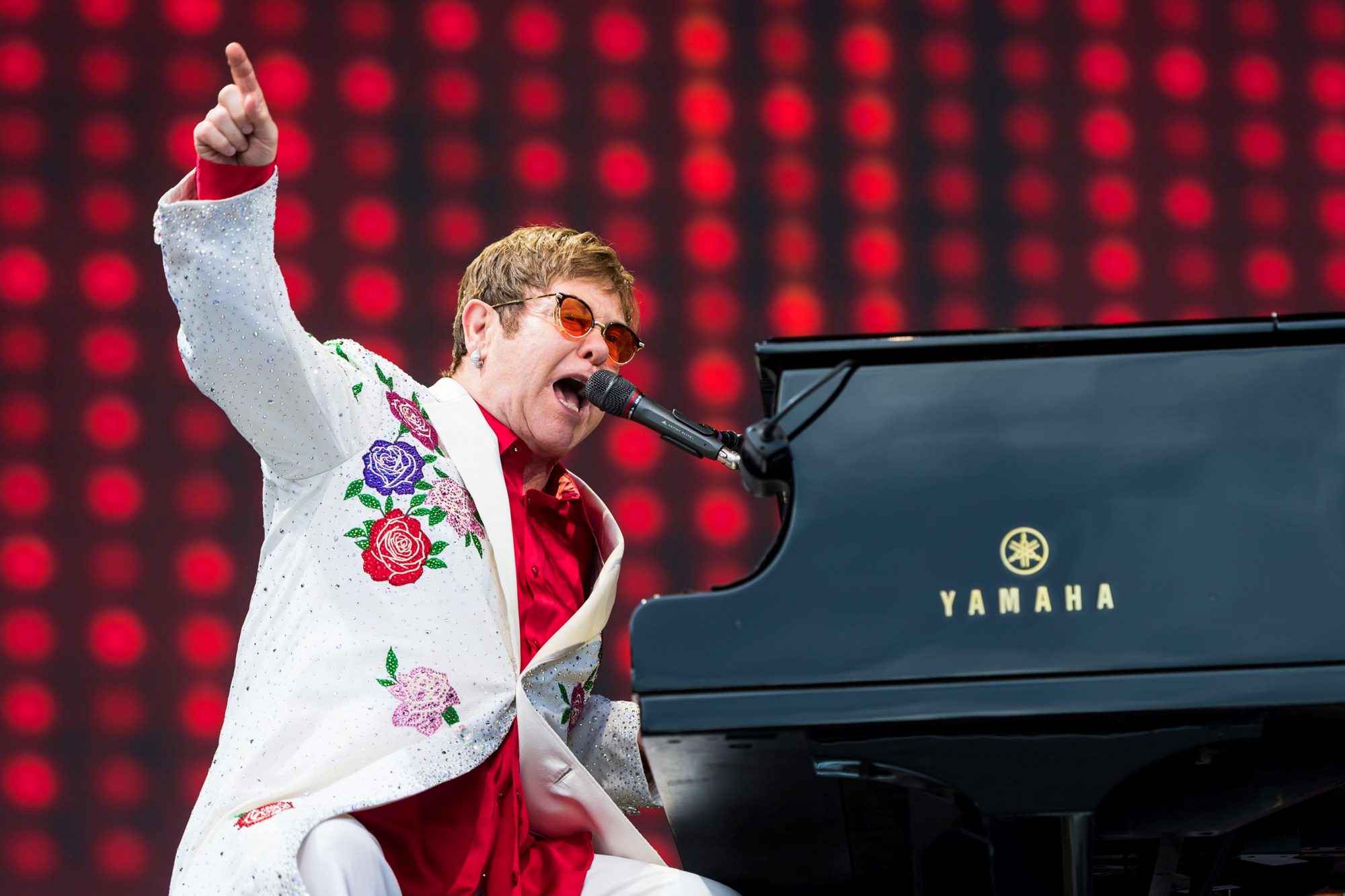 Elton John Performs at the Twickenham Stoop