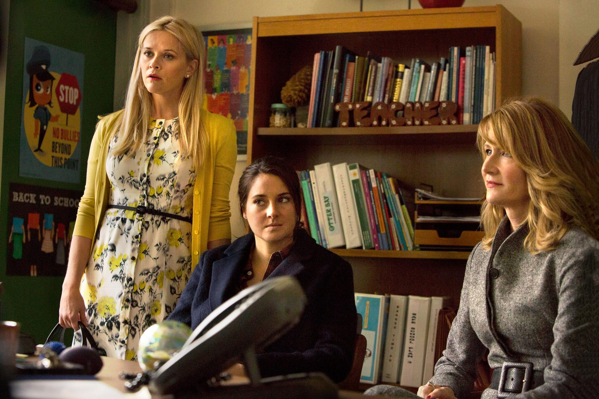 "Big Little Lies ""Serious Mothering"" Season 1, Ep 2 February 26, 2017 Reese Witherspoon, Shailene Woodley, Laura Dern"