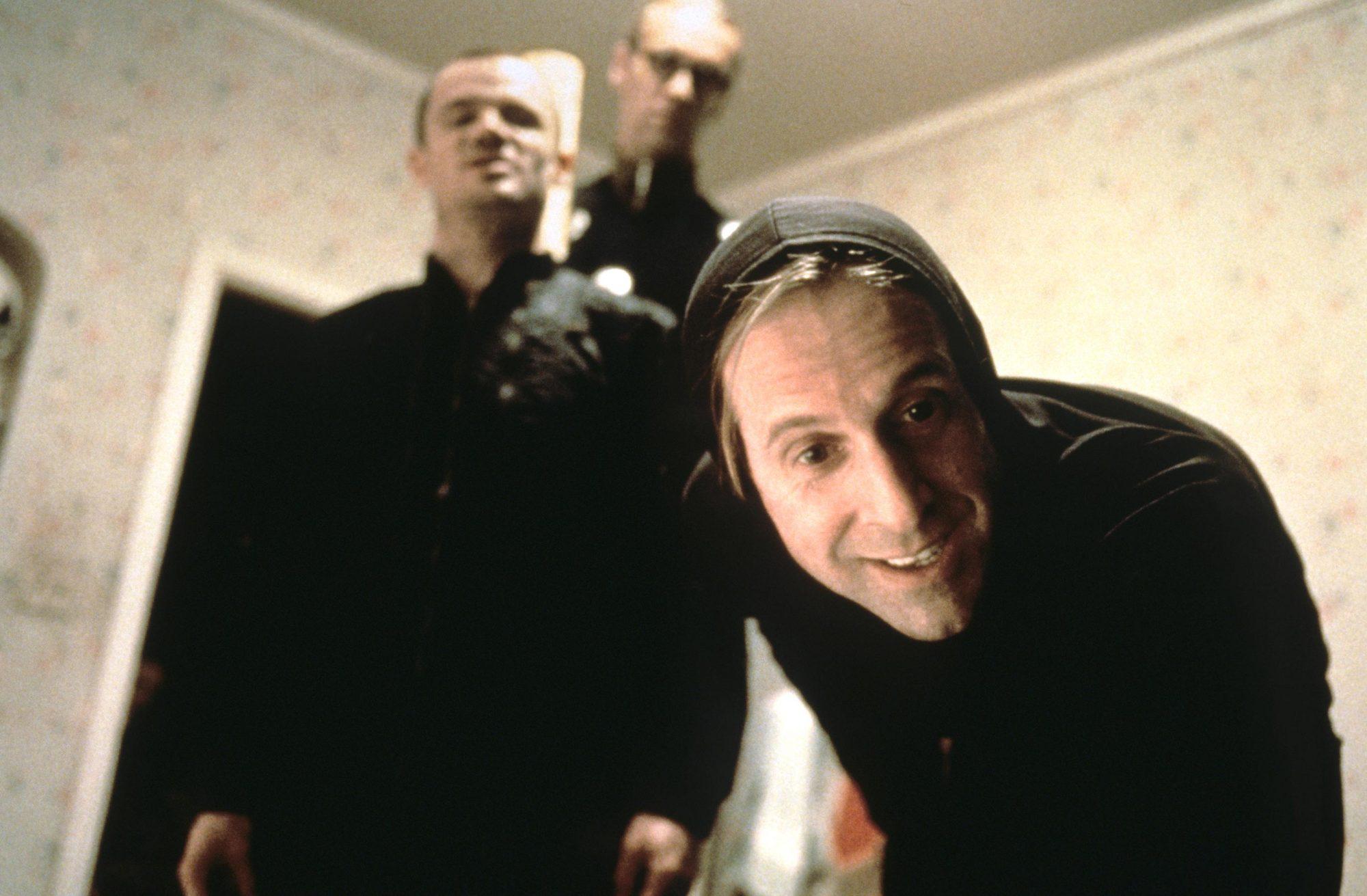 THE BIG LEBOWSKI, Peter Stormare (front), Flea, Torsten Voges (rear), 1998, © Gramercy Pictures/cour