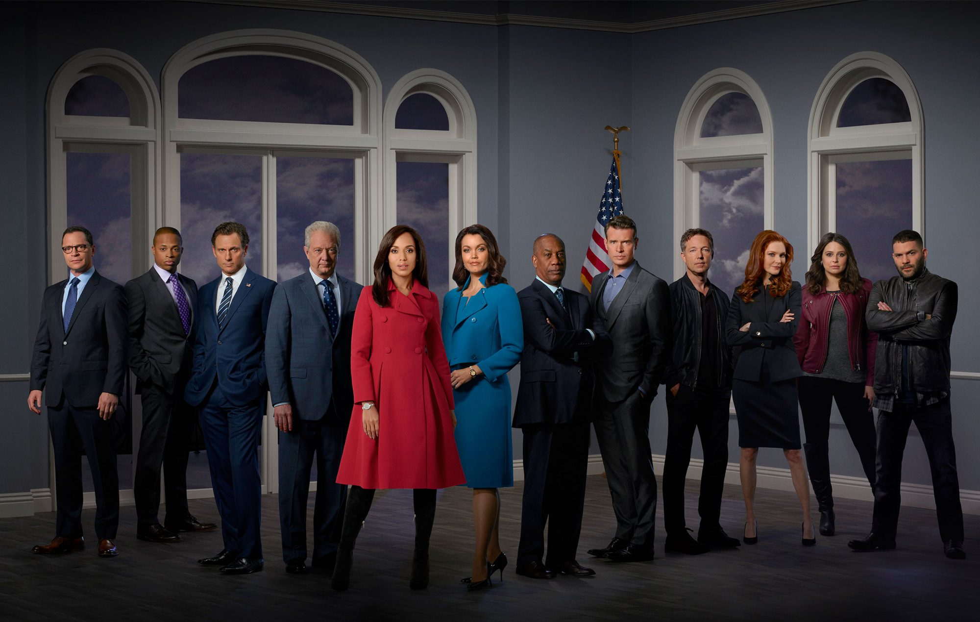 JOSHUA MALINA, CORNELIUS SMITH, JR., TONY GOLDWYN, JEFF PERRY, KERRY WASHINGTON, BELLAMY YOUNG, JOE MORTON, SCOTT FOLEY, GEORGE NEWBERN, DARBY STANCHFIELD, KATIE LOWES, GUILLERMO DIAZ