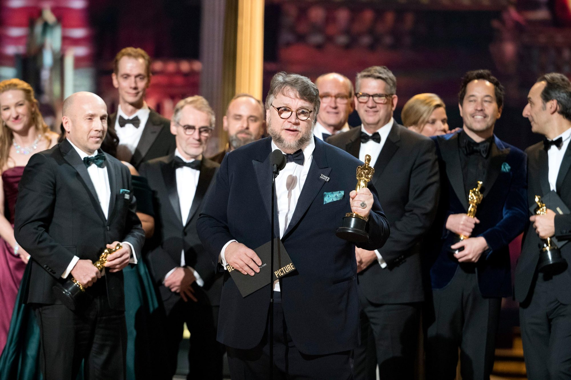 GUILLERMO DEL TORO, CAST AND CREW OF THE SHAPE OF WATER