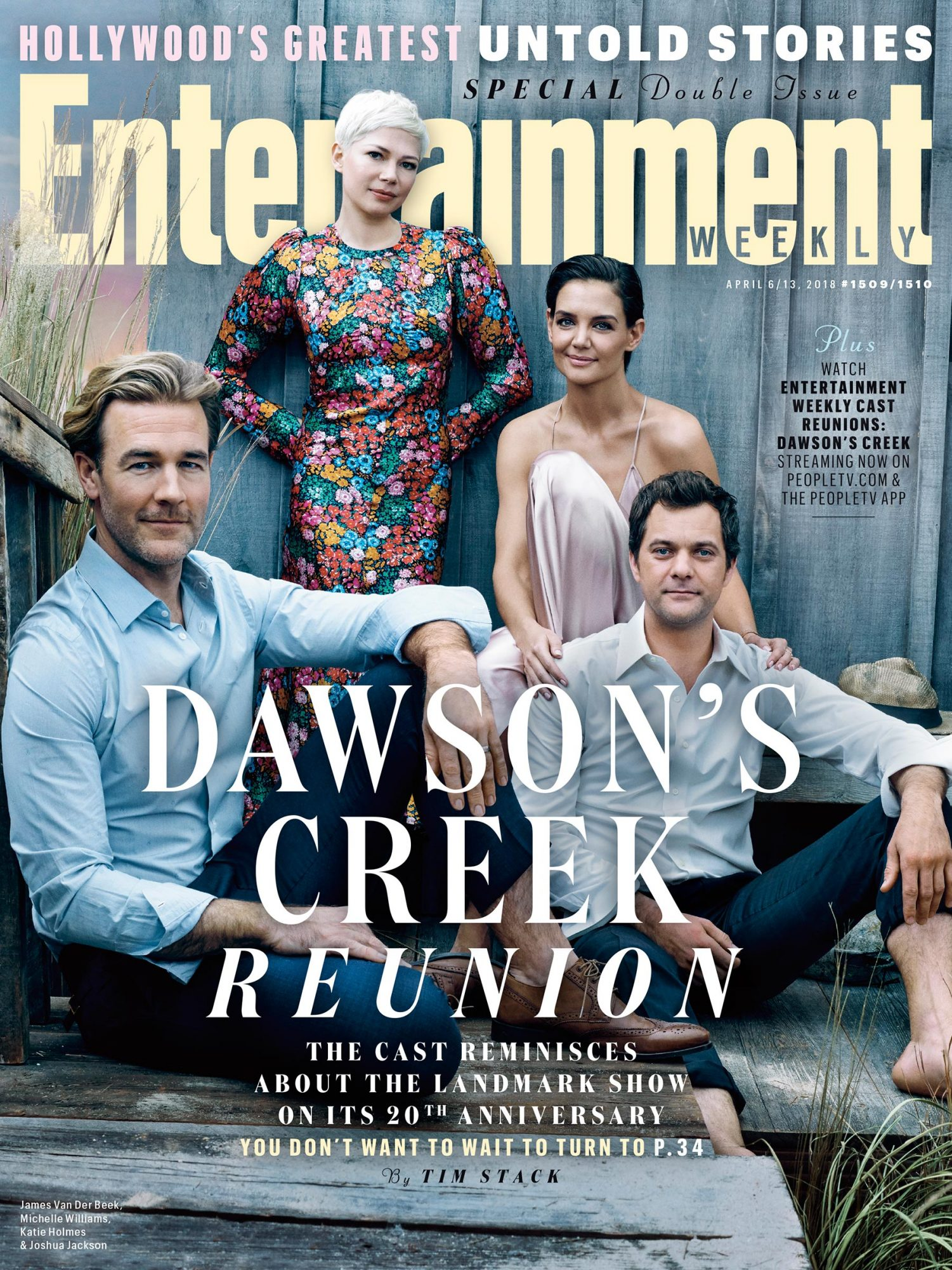 Dawson's Creek cast reunites for 20th anniversary on EW cover | EW.com