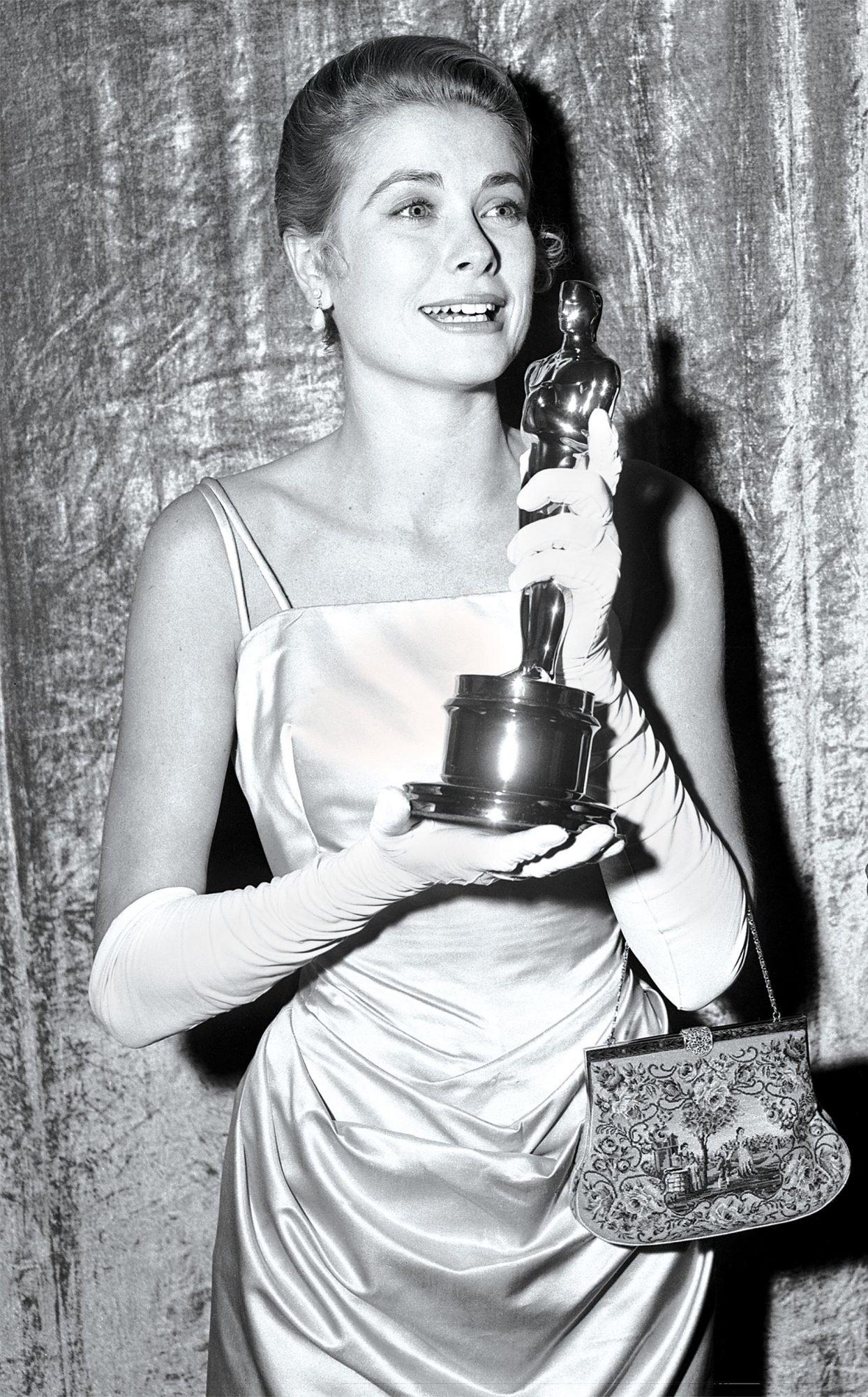 Grace Kelly Receiving Her Academy Award