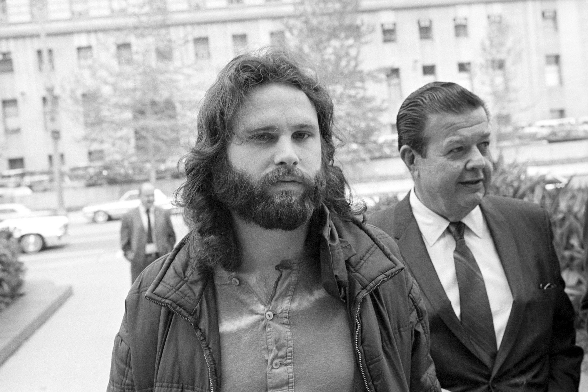 Jim Morrison Walking to Extradition Proceedings