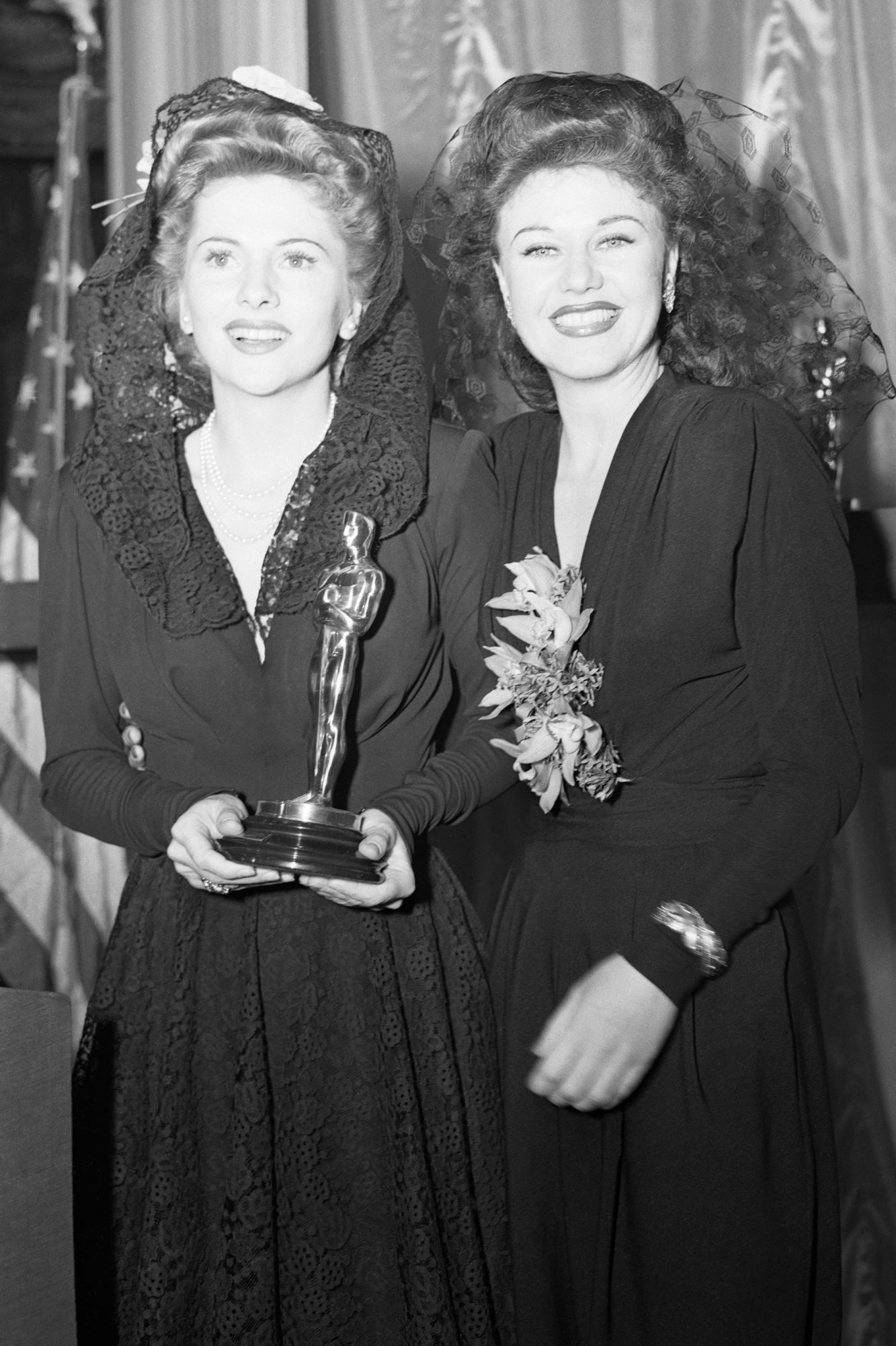 Portrait of Ginger Rogers and Joan Fontaine