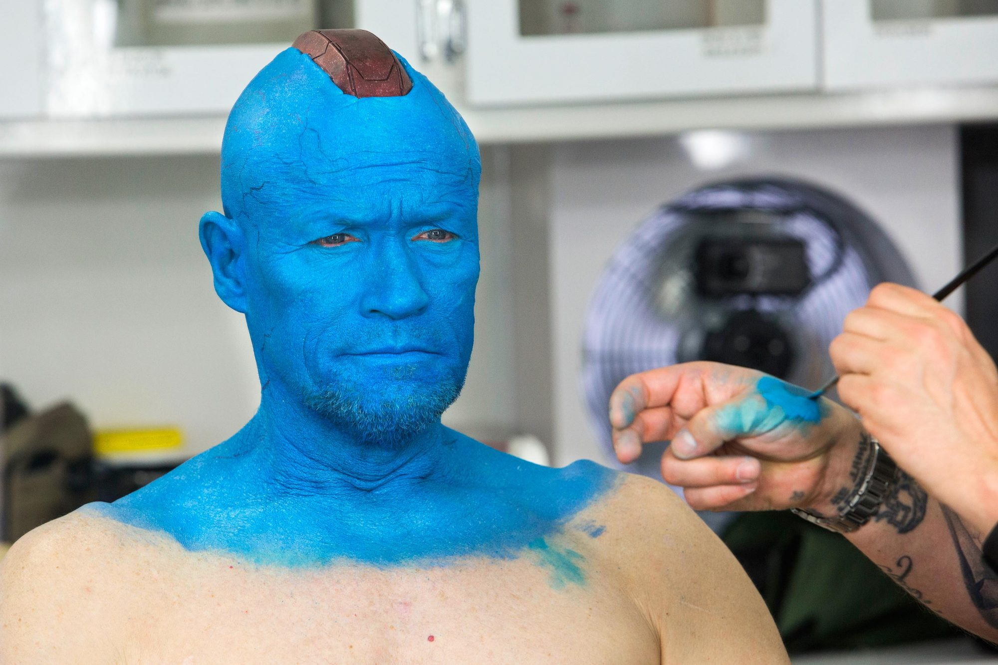 MARVEL'S GUARDIANS OF THE GALAXY: VOL. 2Michael Rooker on set