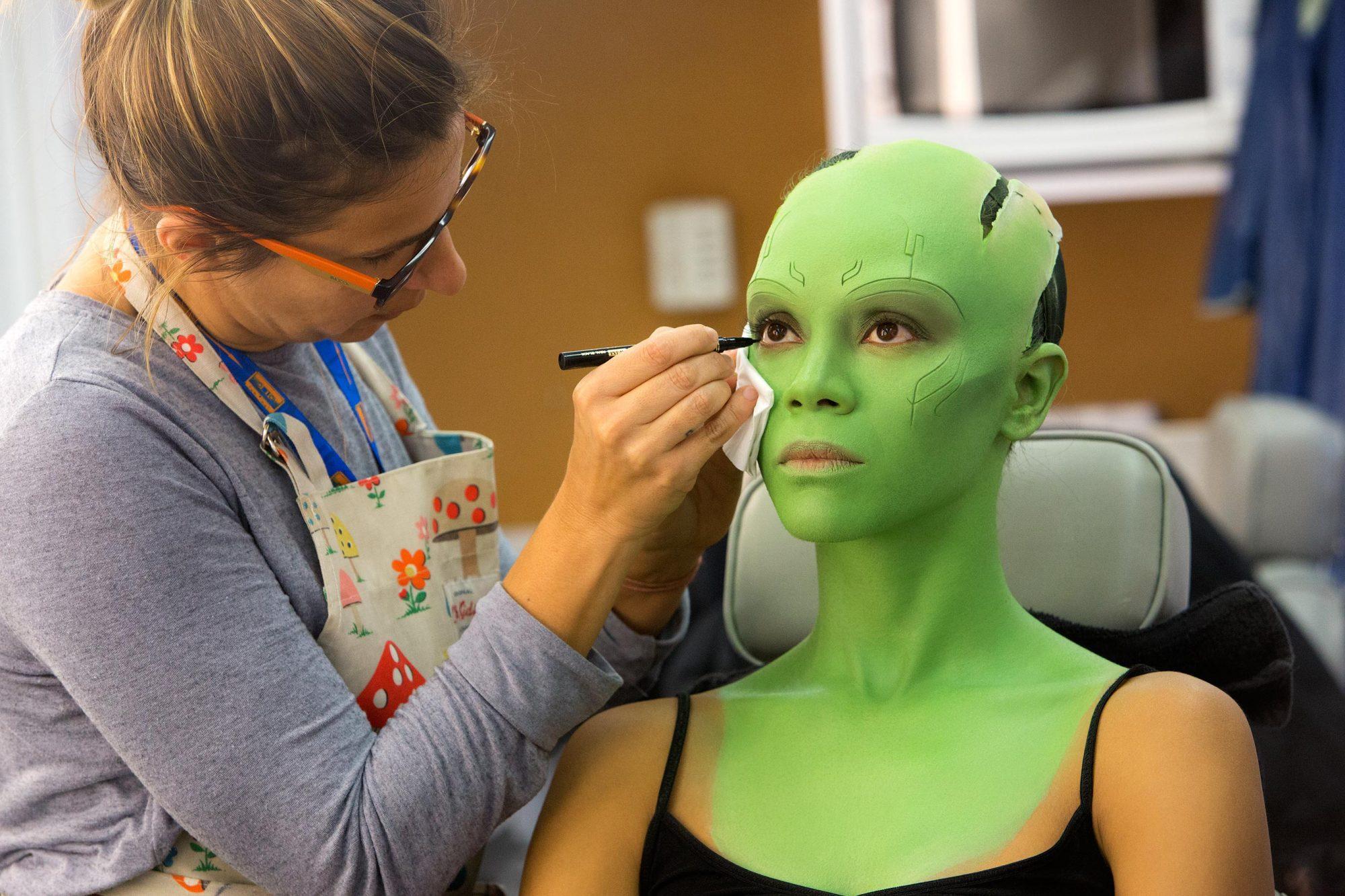 MARVEL'S GUARDIANS OF THE GALAXY: VOL. 2Zoe Saldana on set