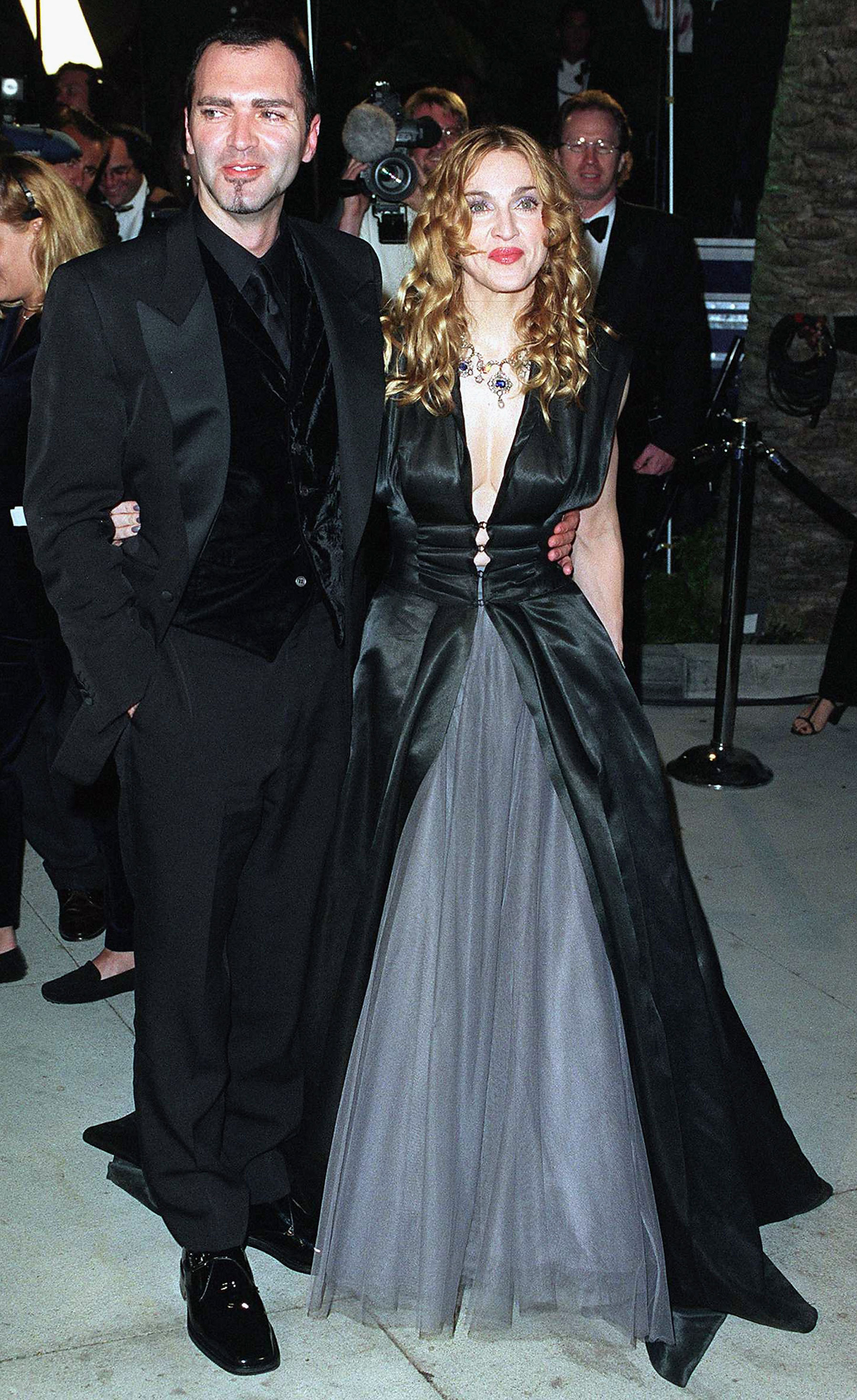 Presenter Madonna and her brother Christopher Ciccone