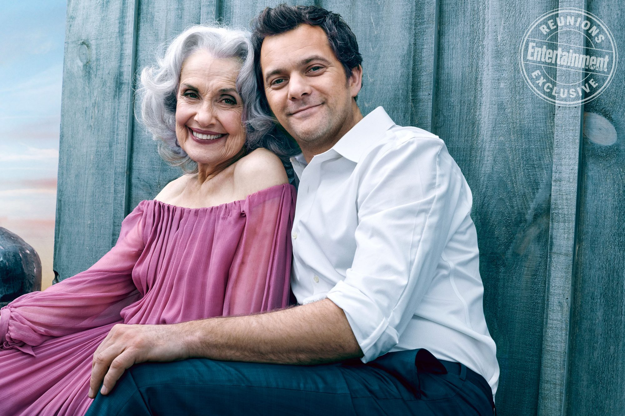 Mary Beth Peil (Evelyn 'Grams' Ryan) and Joshua Jackson (Pacey Witter)