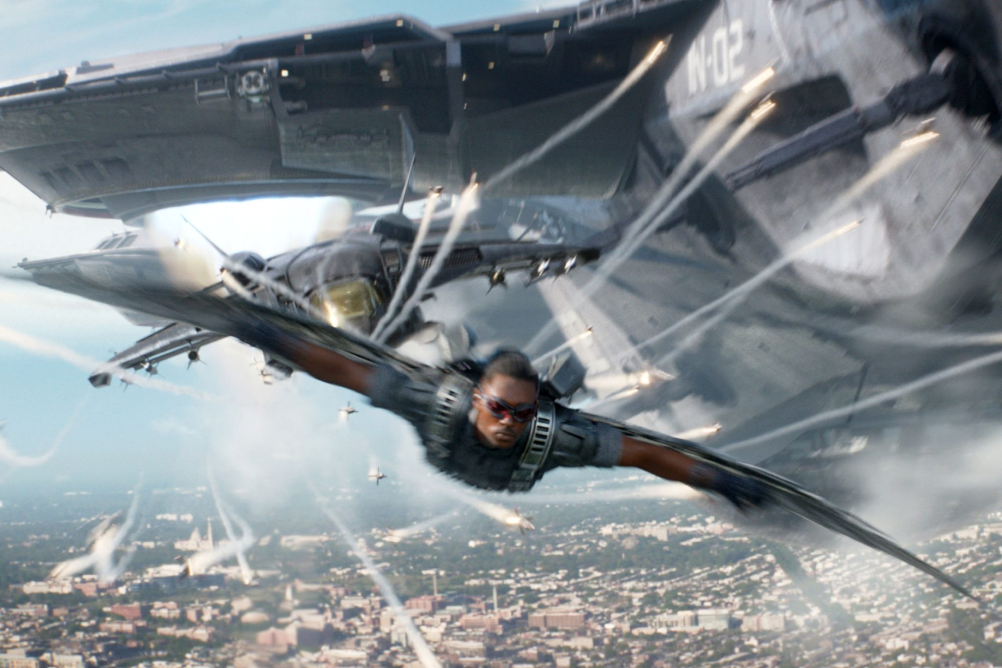 CAPTAIN AMERICA: THE WINTER SOLDIER, Anthony Mackie, 2014, ©Walt Disney Company/courtesy Everett Col
