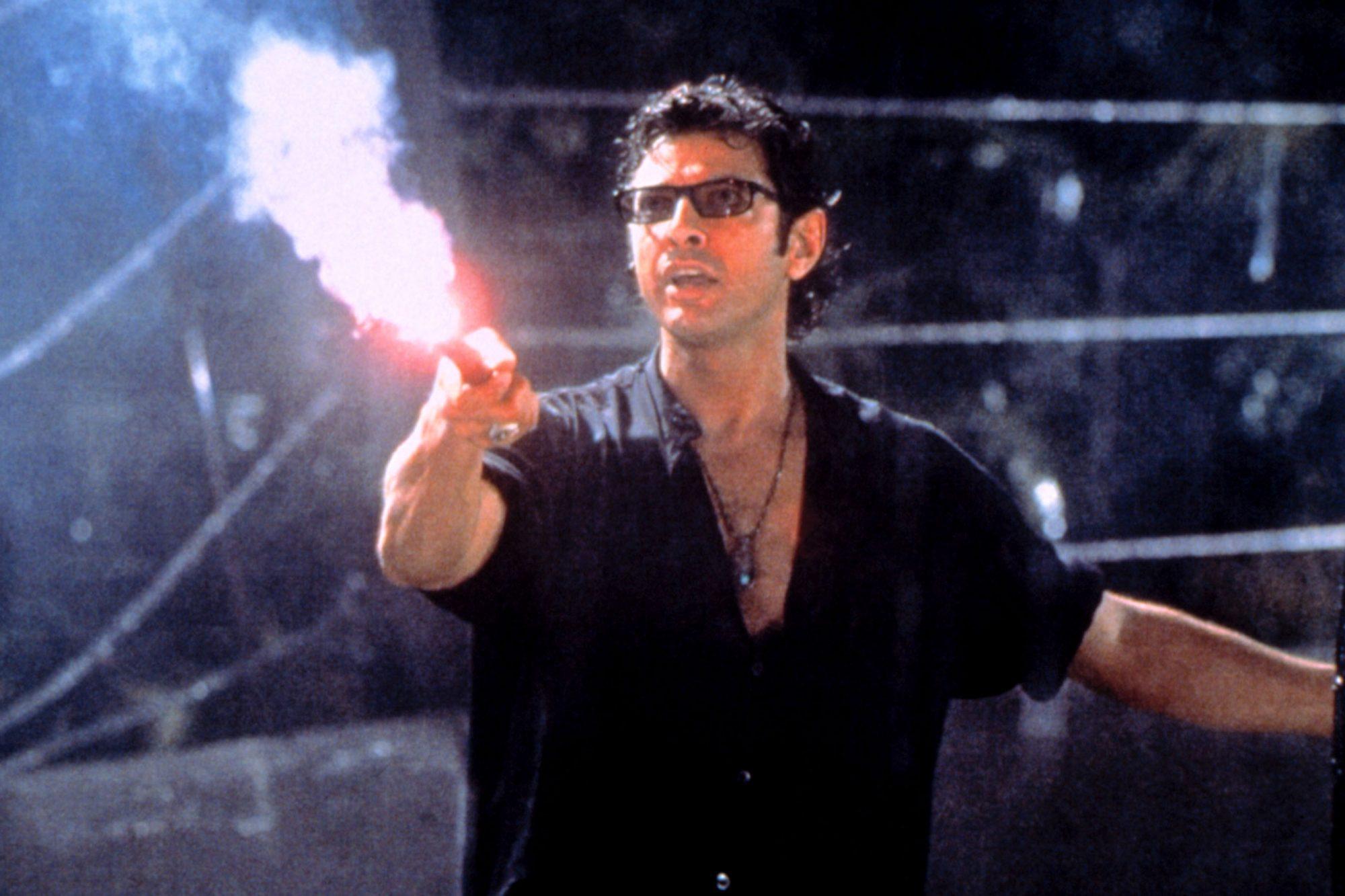 JURASSIC PARK, Jeff Goldblum, 1993.