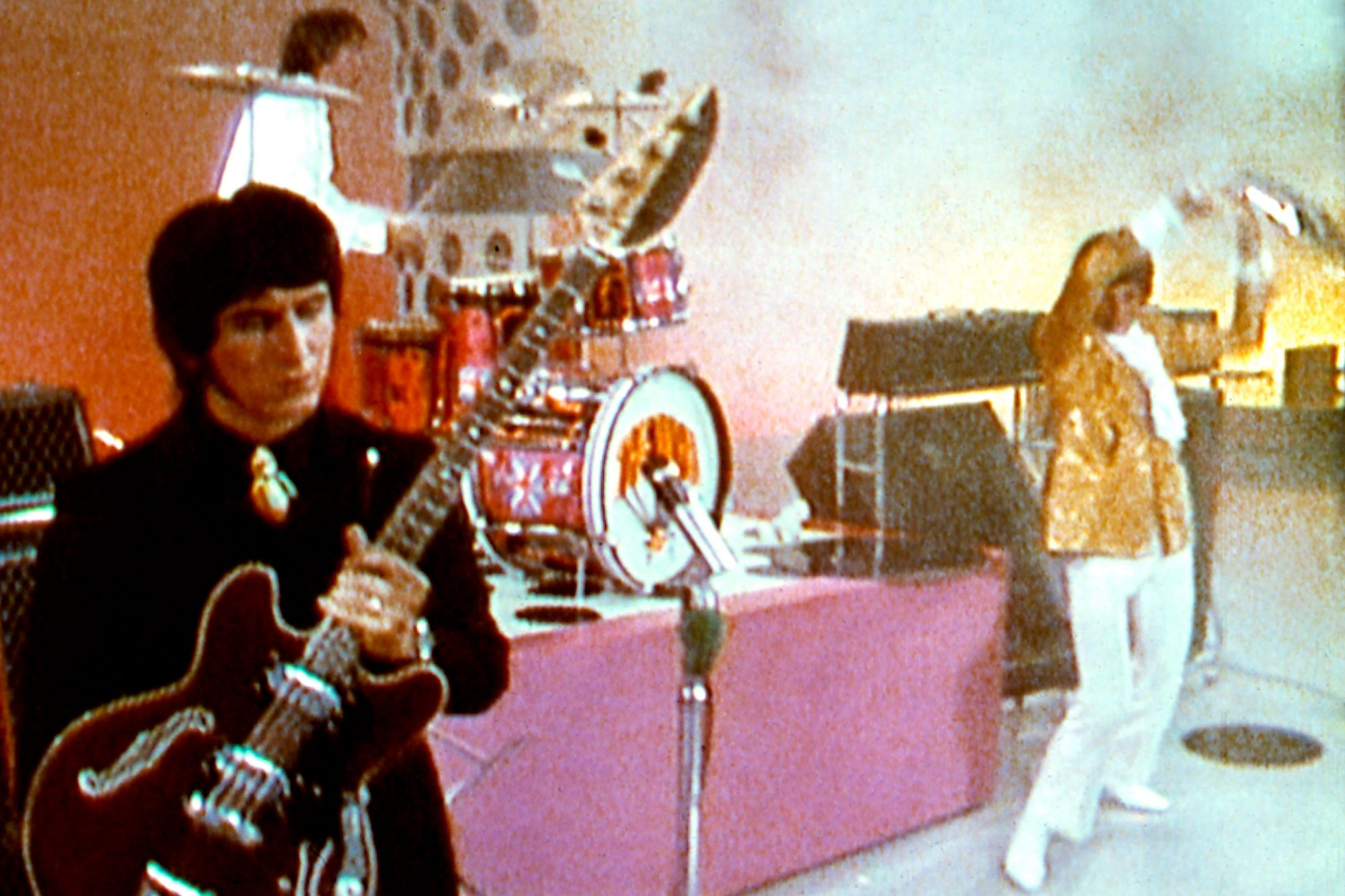 THE KIDS ARE ALRIGHT, The Who circa 1967, on the Smothers Brothers Show, L-R, John Entwistle, Keith