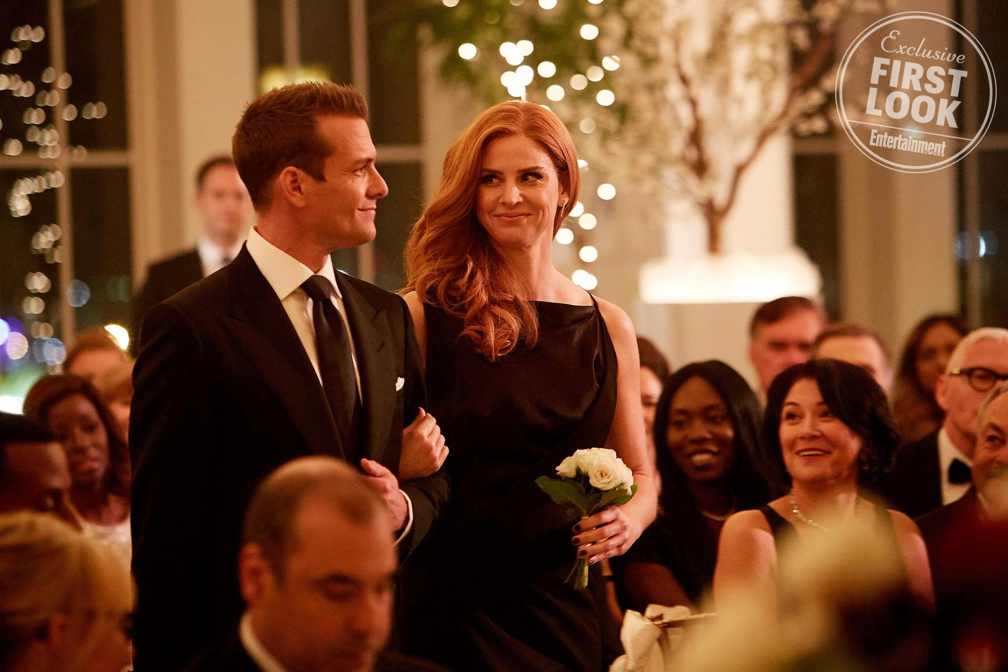 suits wedding meghan markle patrick j adams season 7 finale first look ew com suits wedding meghan markle patrick j