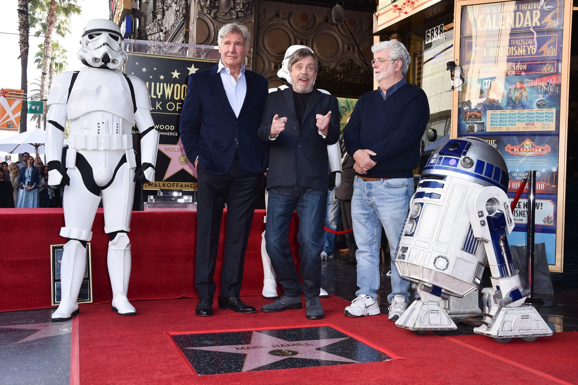 Mark Hamil honored with a Star on the Hollywood Walk of Fame, Los Angeles, USA - 08 Mar 2018
