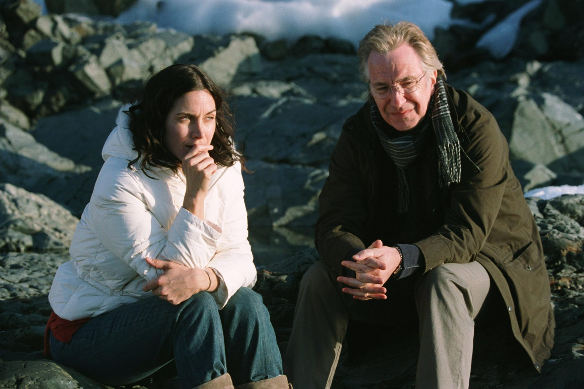 Snow Cake (2007)Carrie-Anne Moss and Alan Rickman