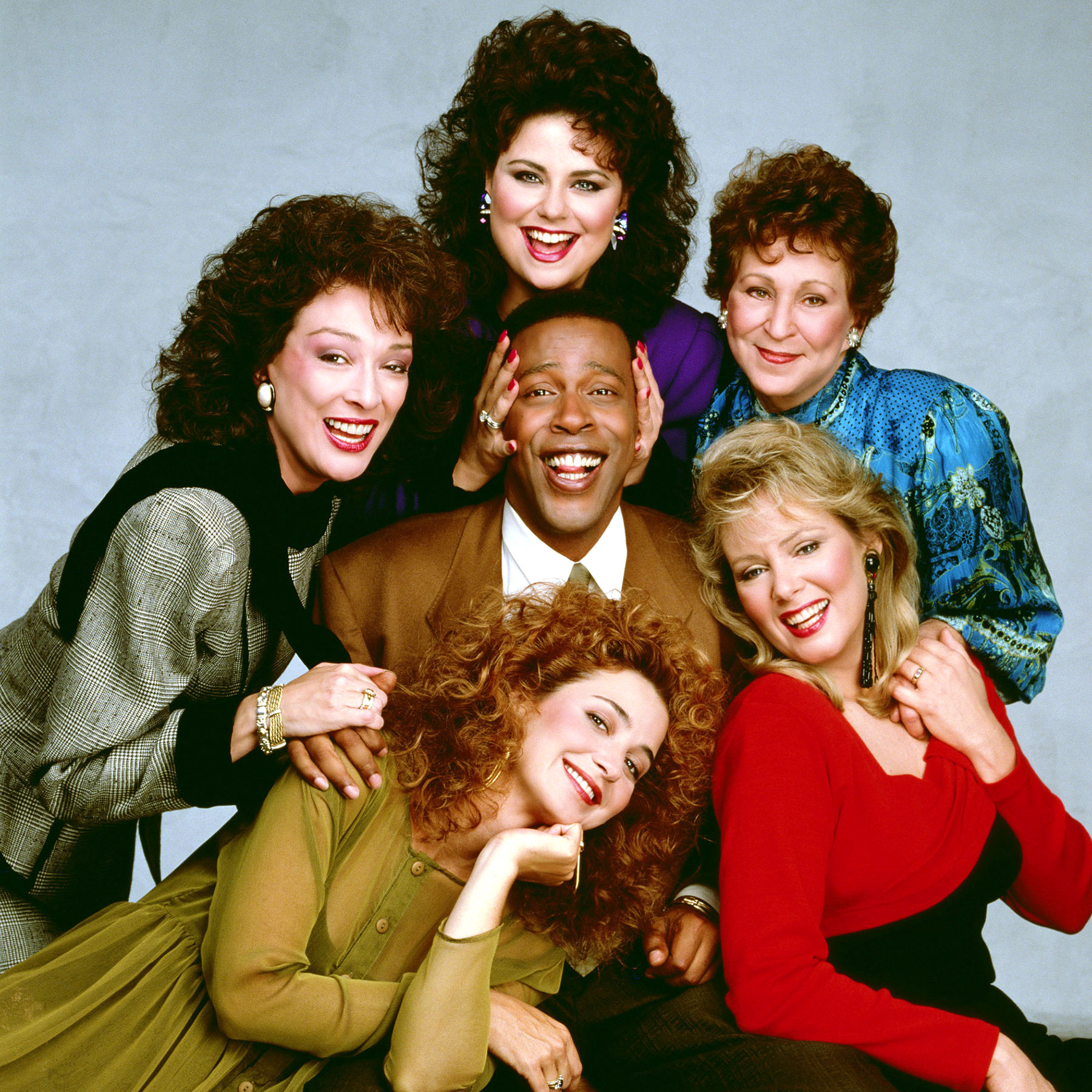 DESIGNING WOMEN, Dixie Carter, Delta Burke, Meshach Taylor, Annie Potts, Alice Ghostley, Jean Smart,