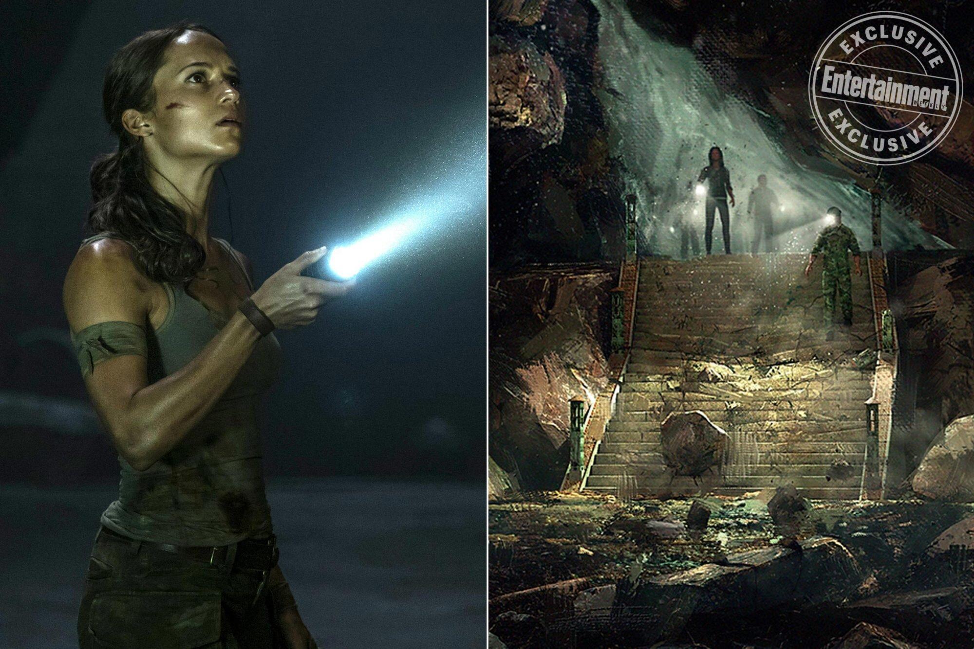 Tomb Raider Concept Art Shows Alicia Vikander S Lara Croft