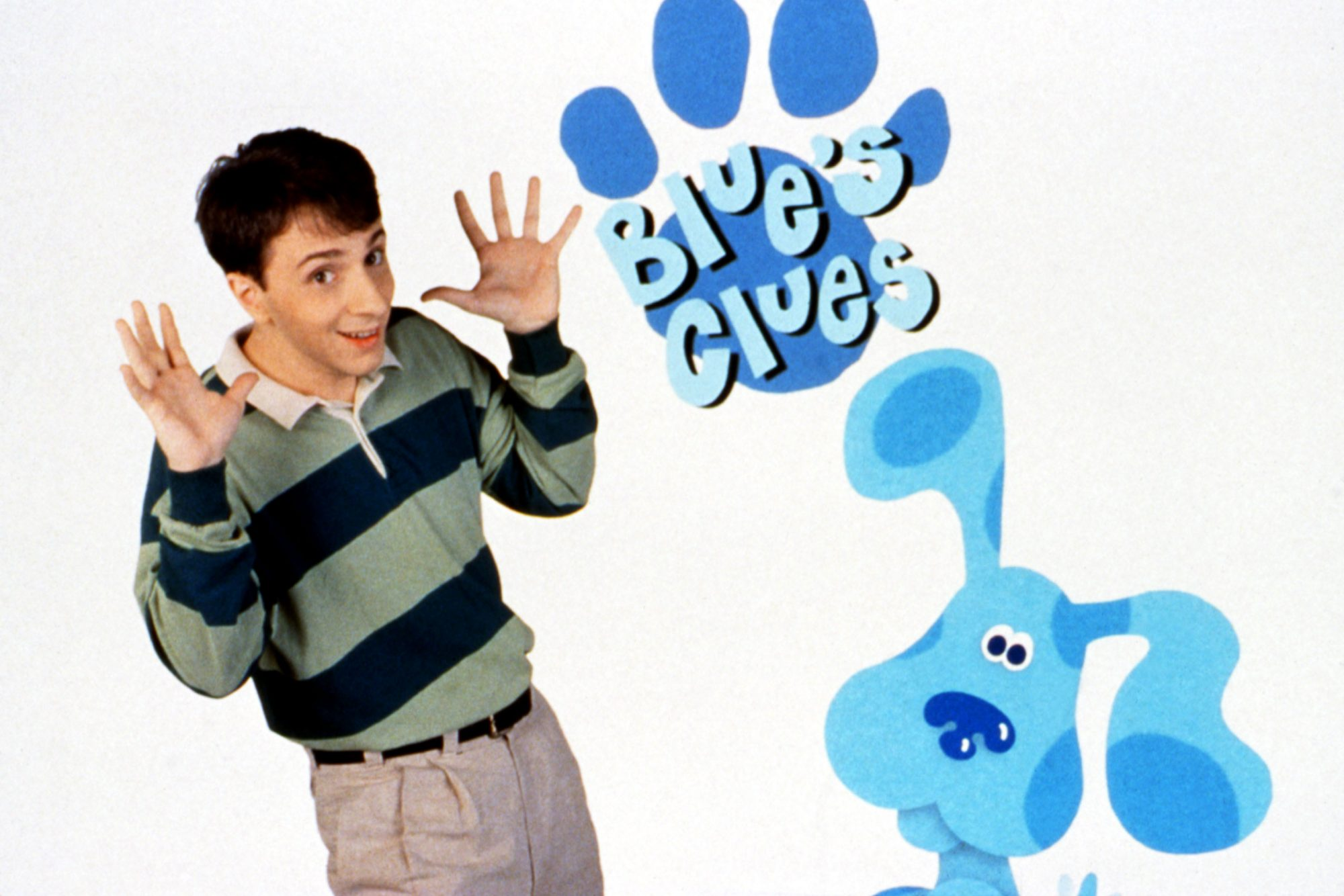 BLUE'S CLUES, Steve Burns, Blue the Dog, 1996-, © Nickelodeon Network / Courtesy: Everett Collection