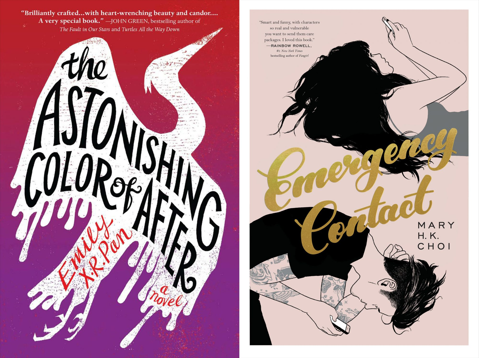 """""""Astonishing Color of After"""" and """"Emergency Contact"""""""