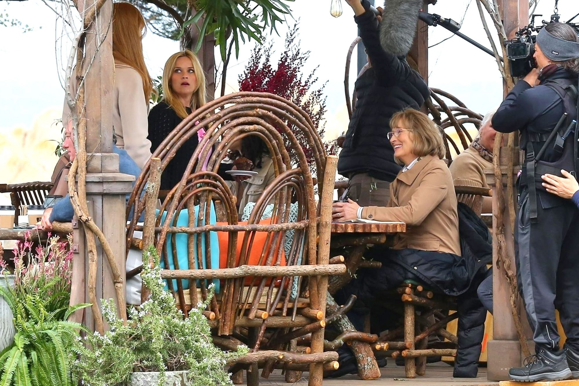 *EXCLUSIVE* Reese Witherspoon, Nicole Kidman and Meryl Streep on the set of 'Big Little Lies'