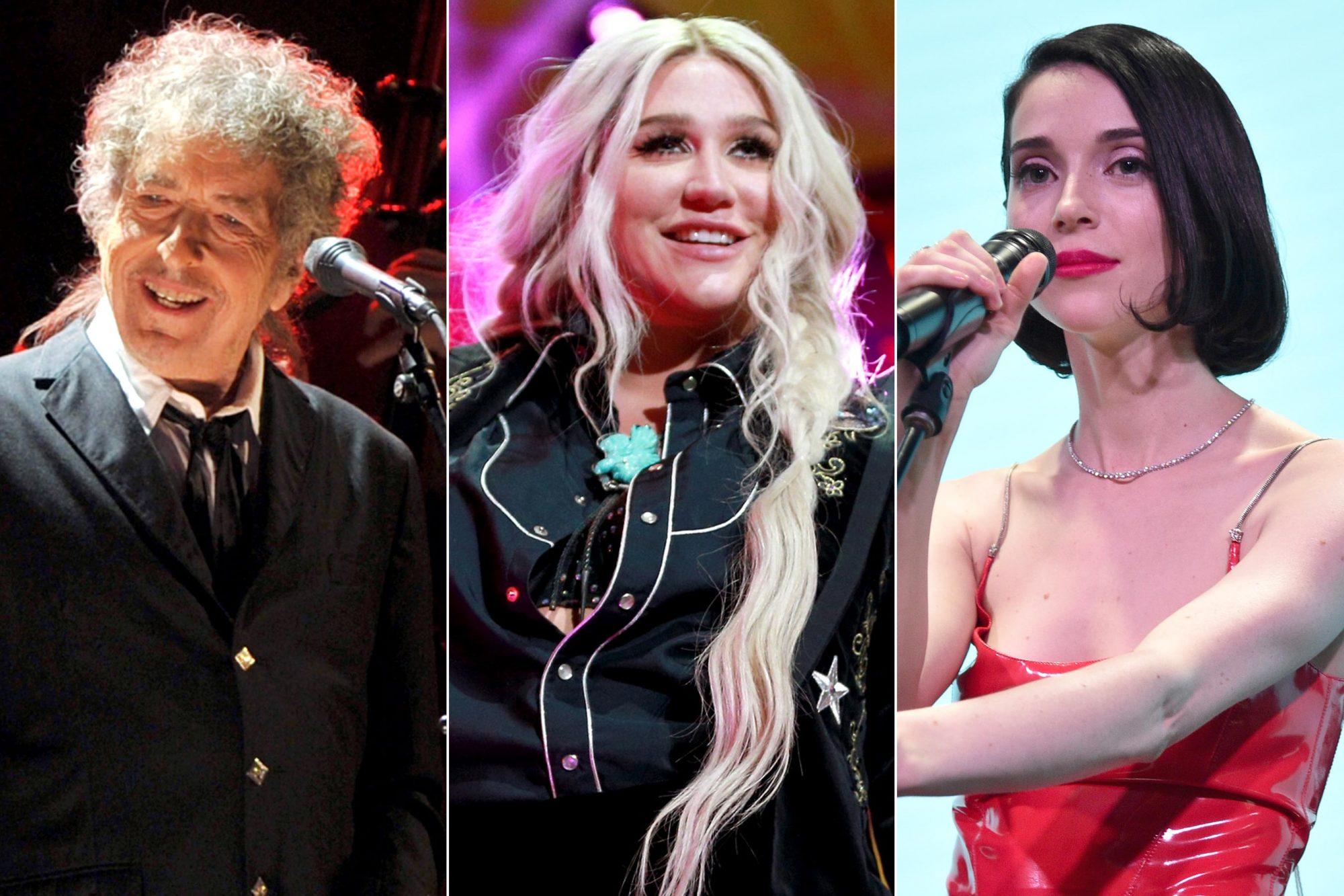 Bob-Dylan-Kesha-St-Vincent