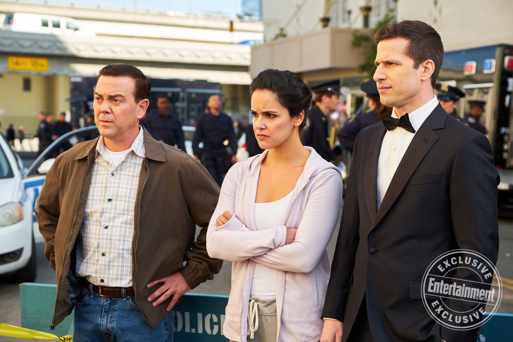 Brooklyn Nine-Nine first look: 9 photos of Jake and Amy's wedding