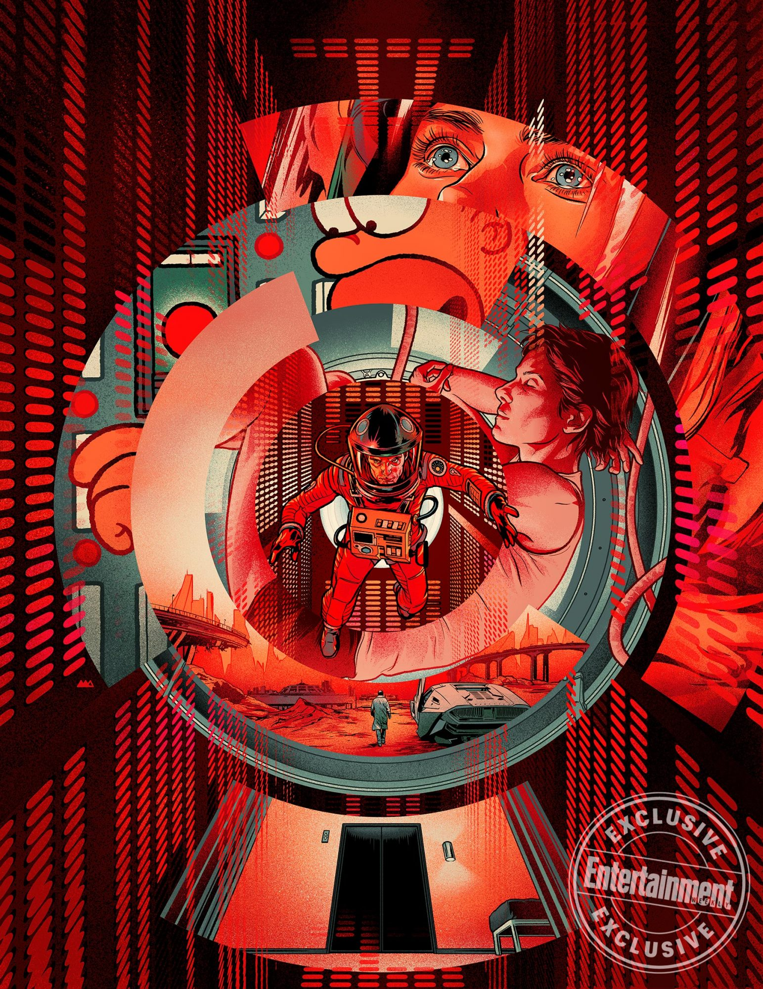 2001: A Space Odyssey Illustration by Martin Ansin for EW