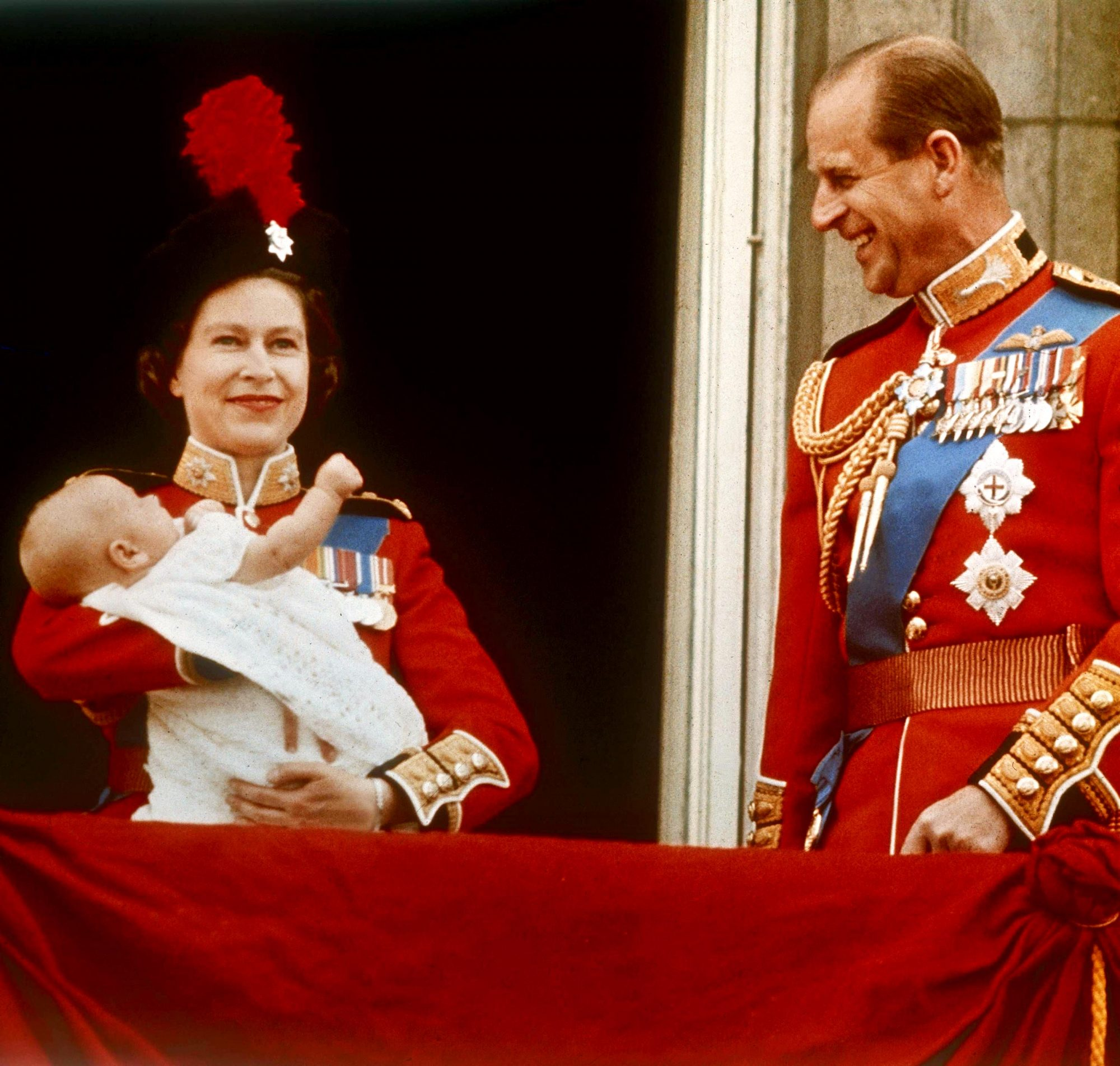 The Queen With Baby Prince Edward And Prince Philip