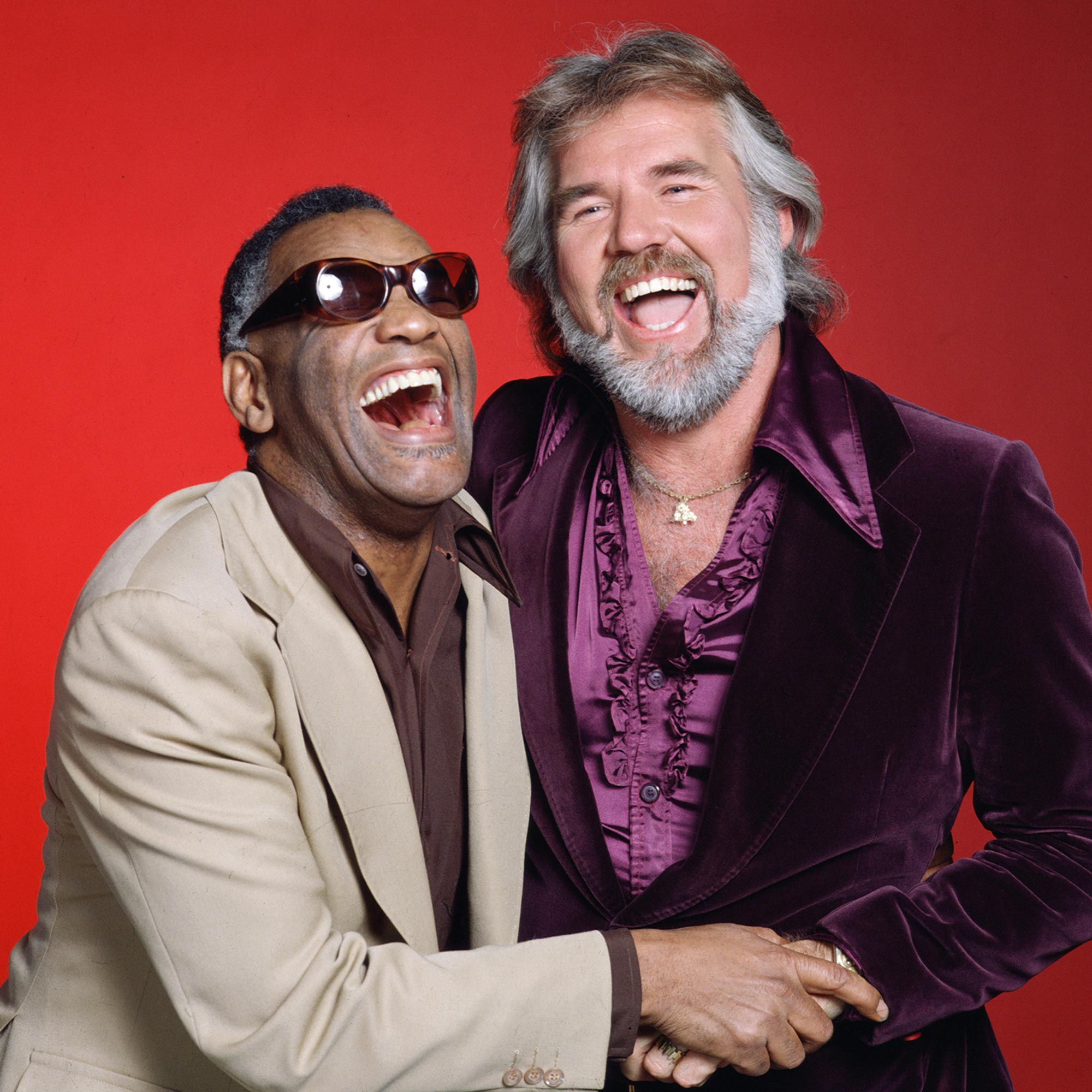 Ray Charles And Kenny Rogers Have A Laugh