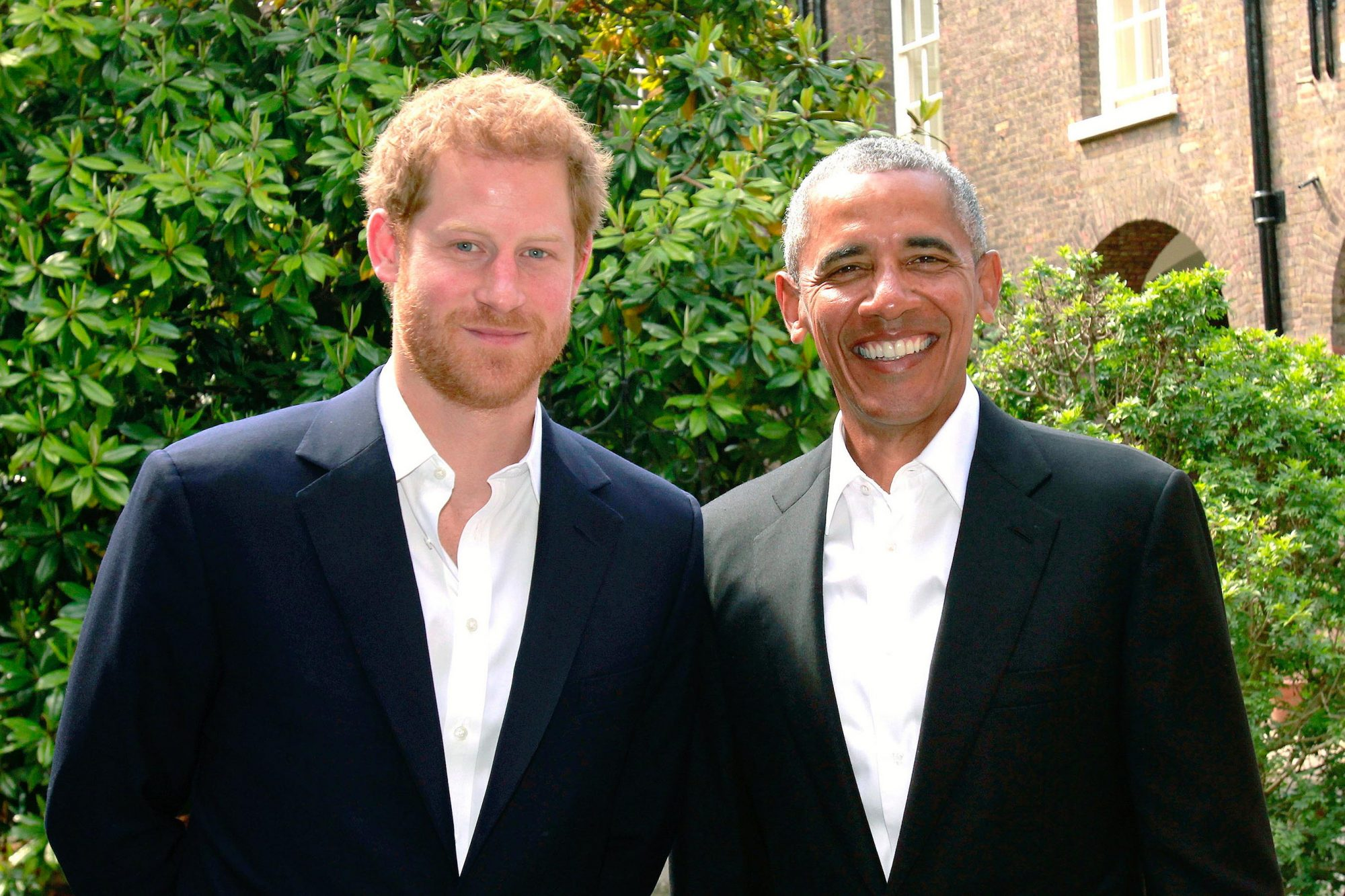 Prince Harry Meets Former US President Barack Obama