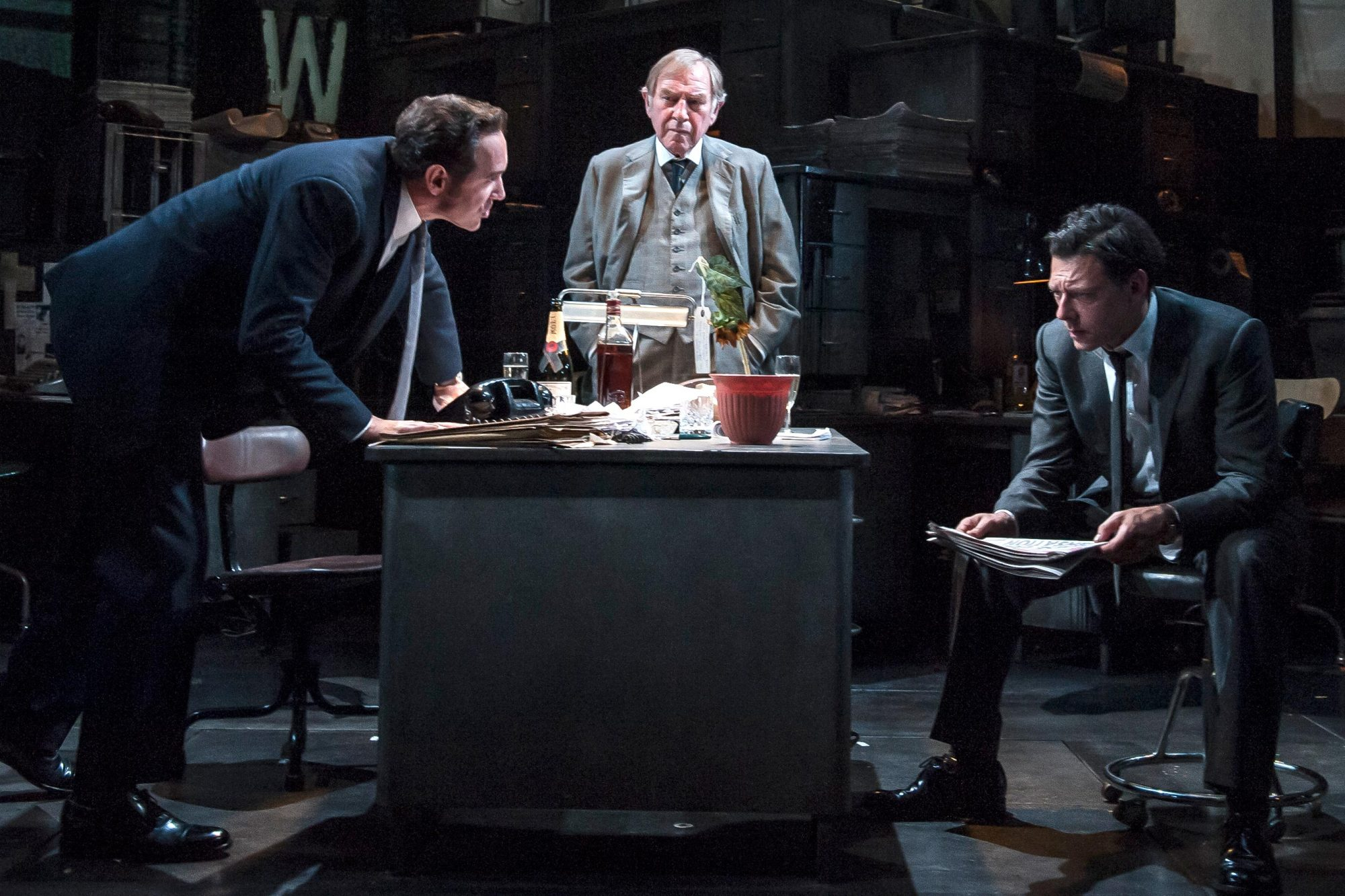 """Ink"" A New Play By Rupert Goold Performed at the Almeida Theatre"