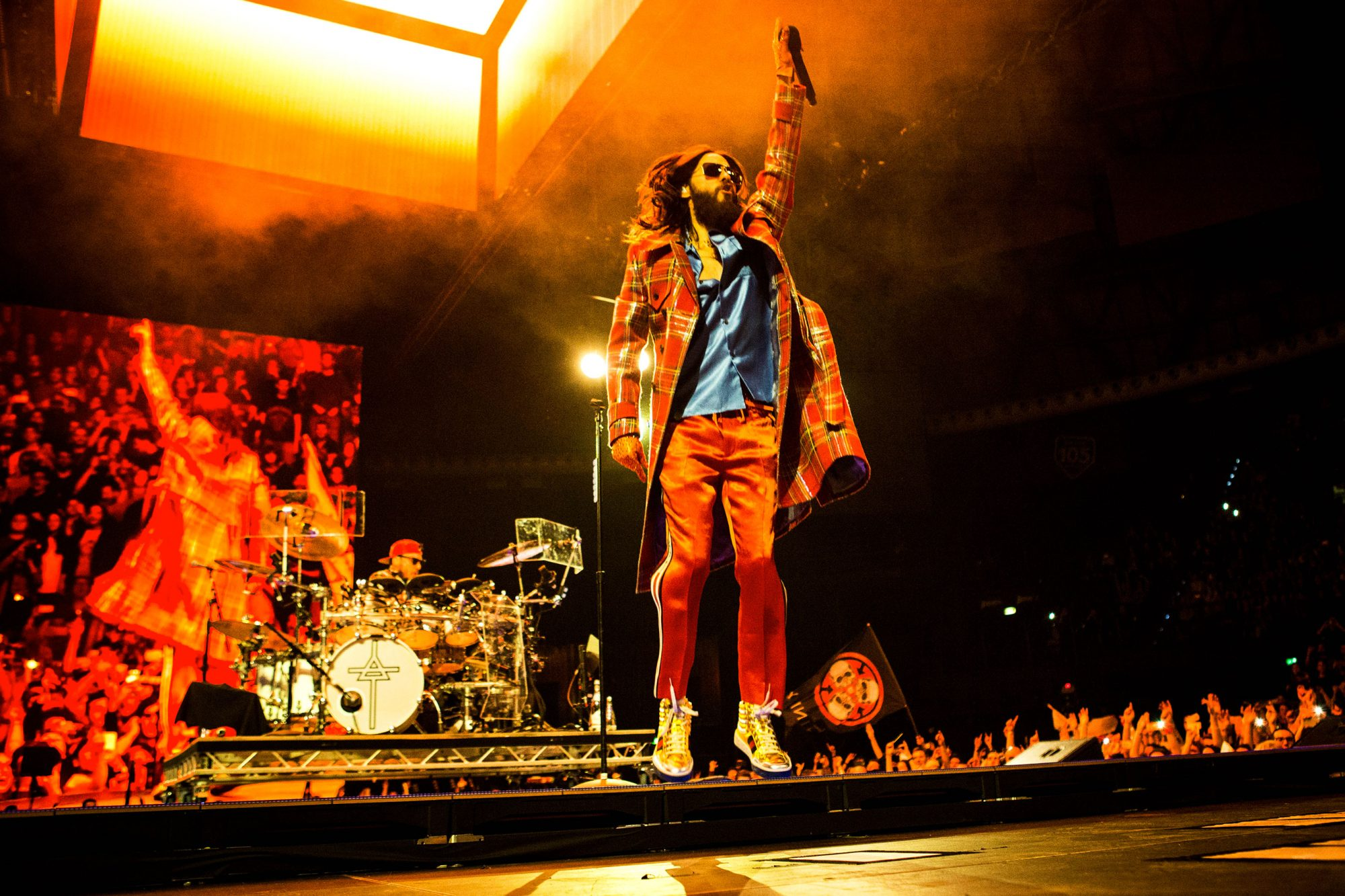 Thirty Seconds To Mars music concert in Bologna Italy