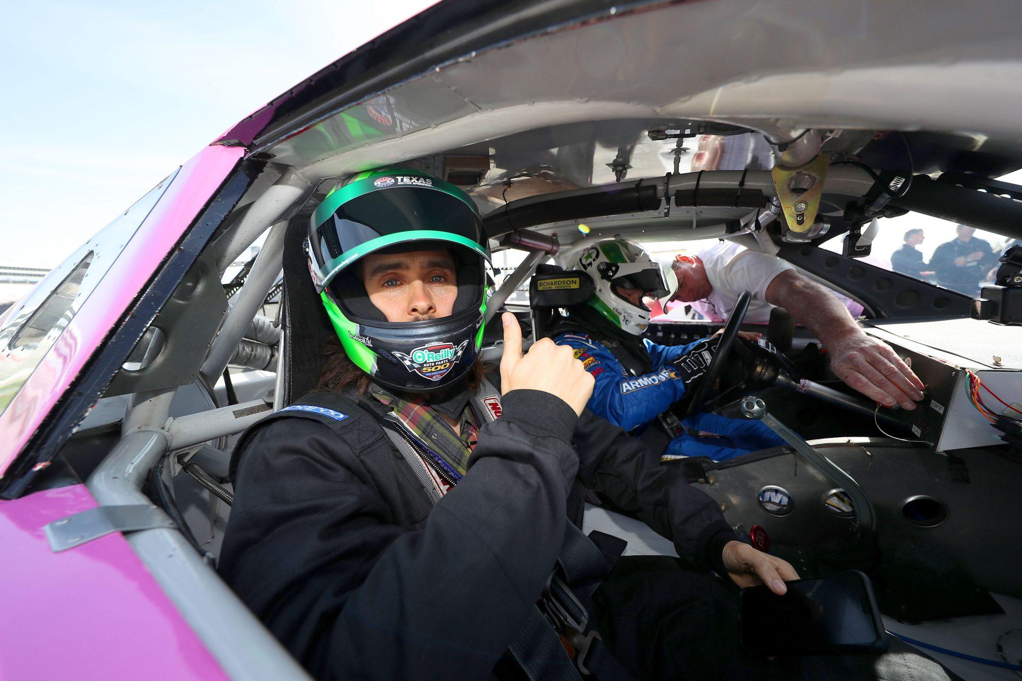 Jared Leto visits Texas Motor Speedway